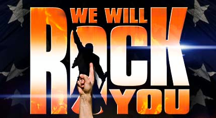 Queen Take We Will Rock You on Road