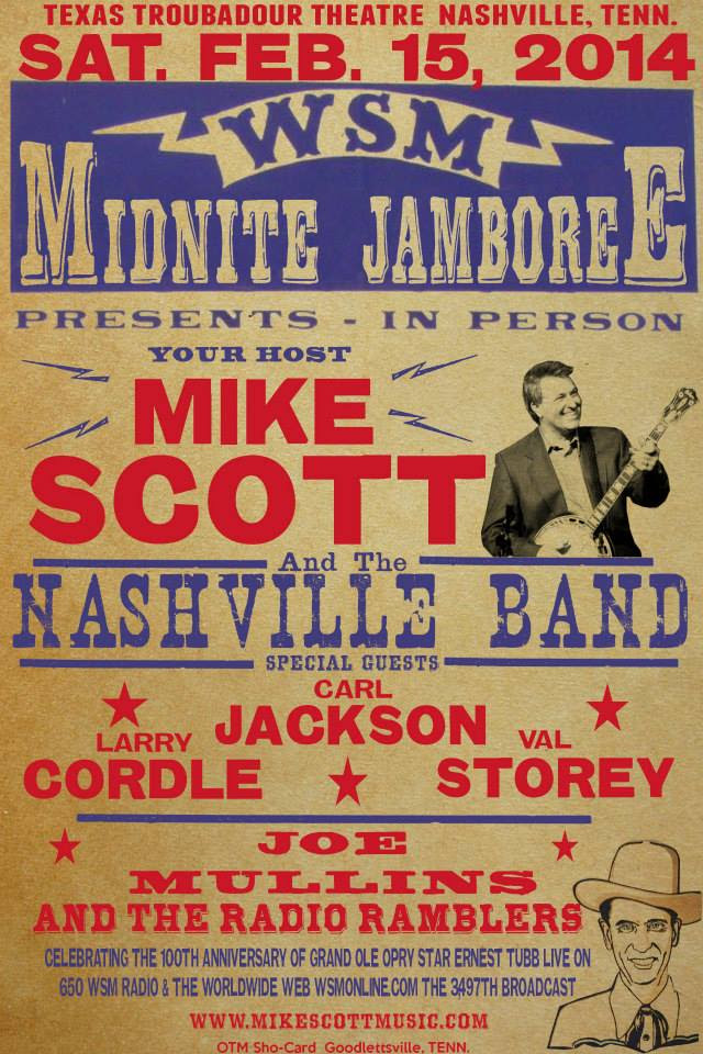 Mike Scott To Host The WSM Midnite Jamboree