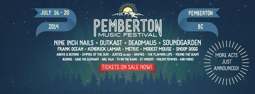 More Artists Announced to 2014 Pemberton Music Festival