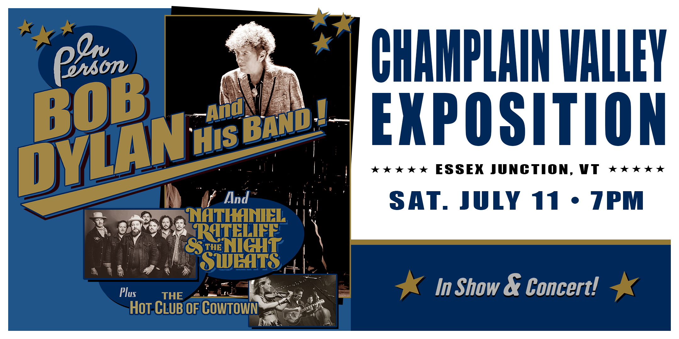 Bob Dylan and His Band 7.11.2020 at the Champlain Valley Expo