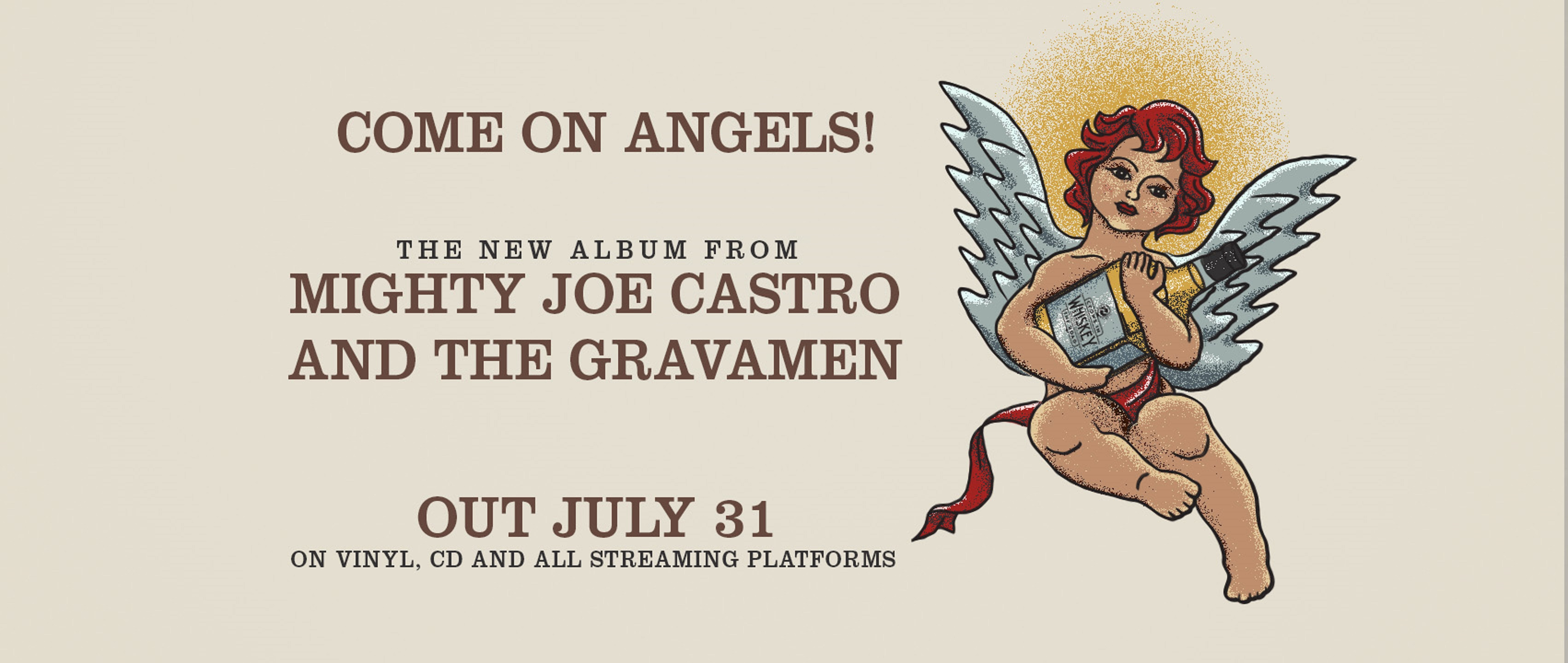 "Mighty Joe Castro and The Gravamen's Debut ""Come On Angles"" Out 7/31"