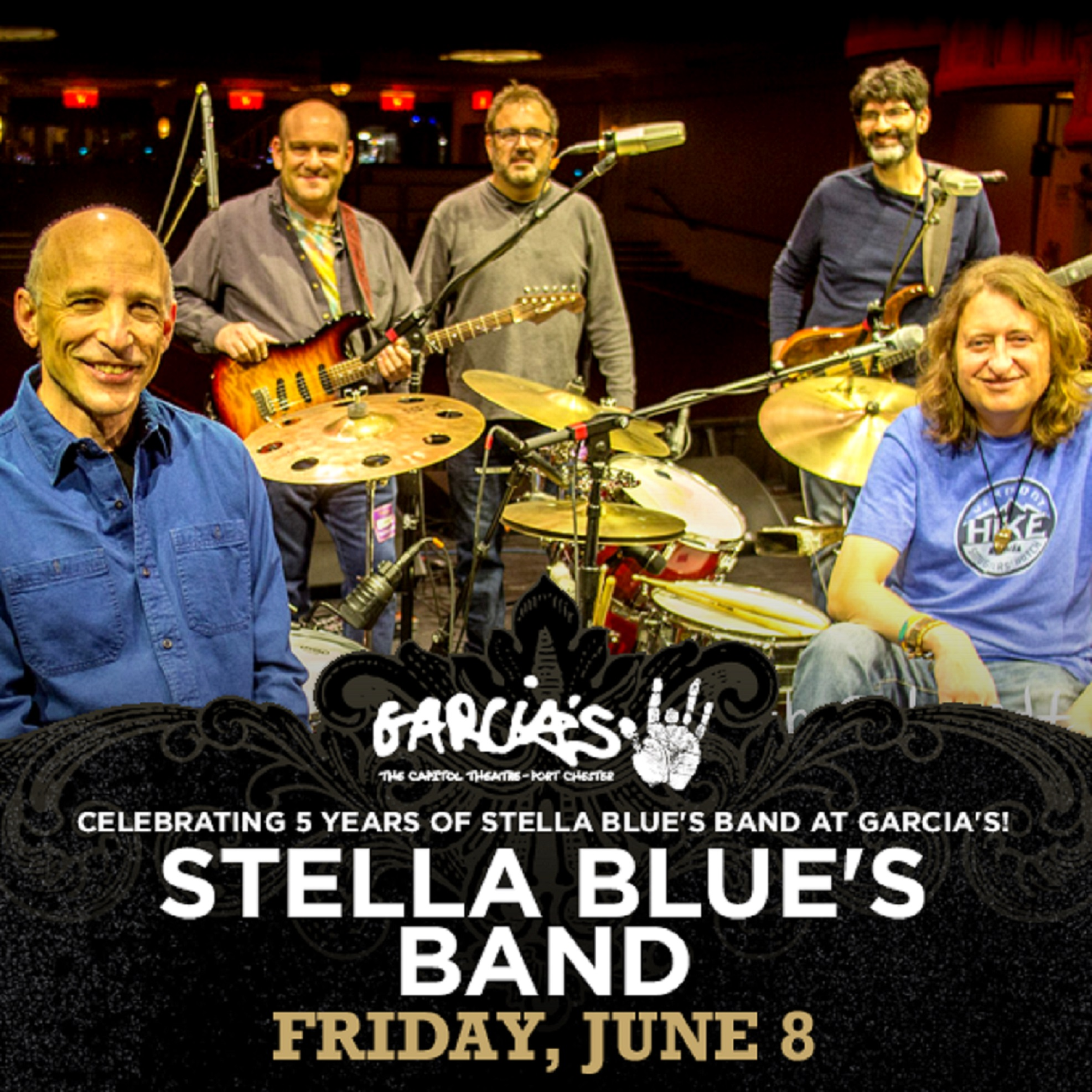 STELLA BLUE'S BAND CELEBRATES FIFTH  ANNIVERSARY AT GARCIA'S