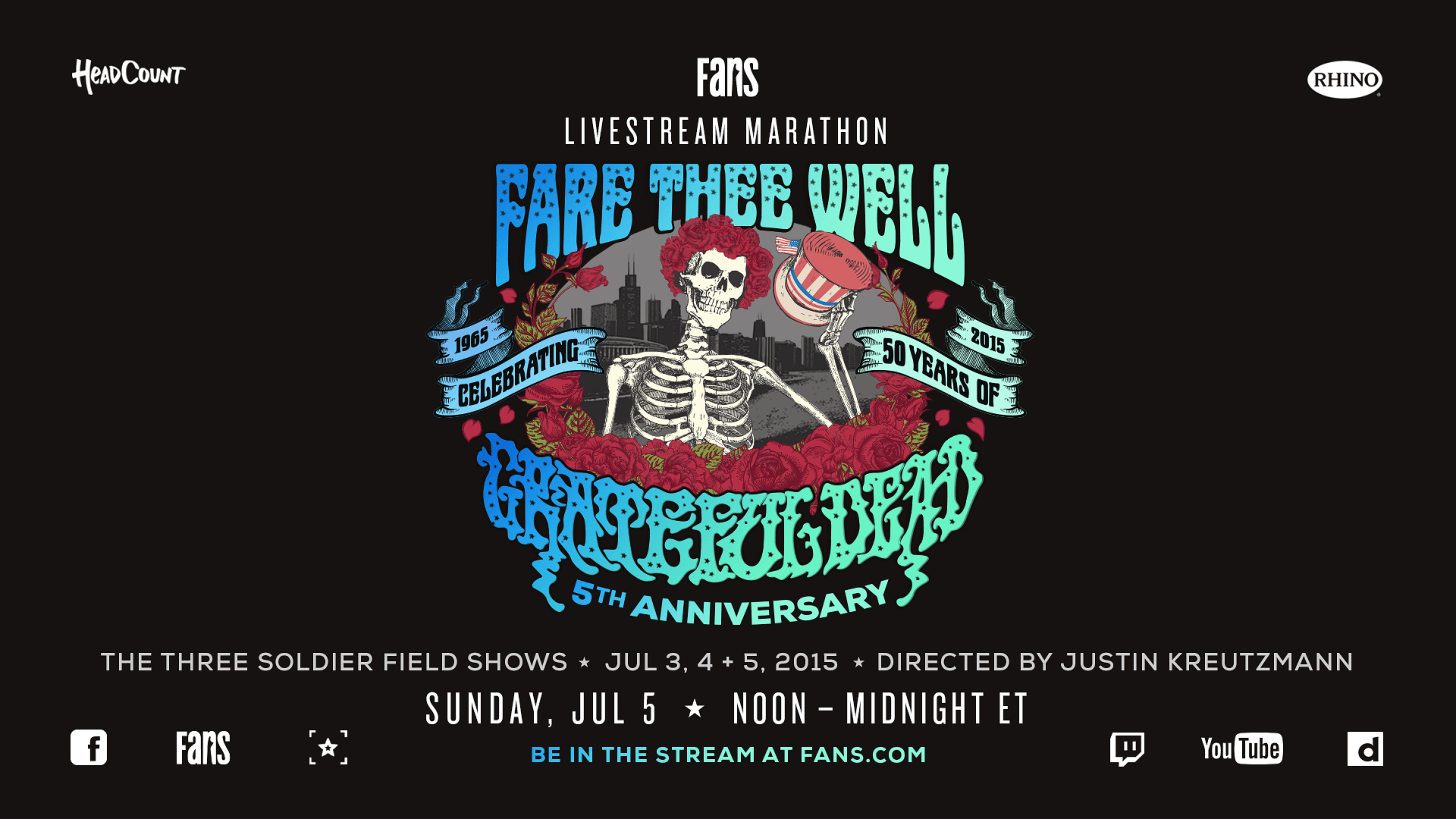 Stream all three Fare Thee Well shows on July 5th