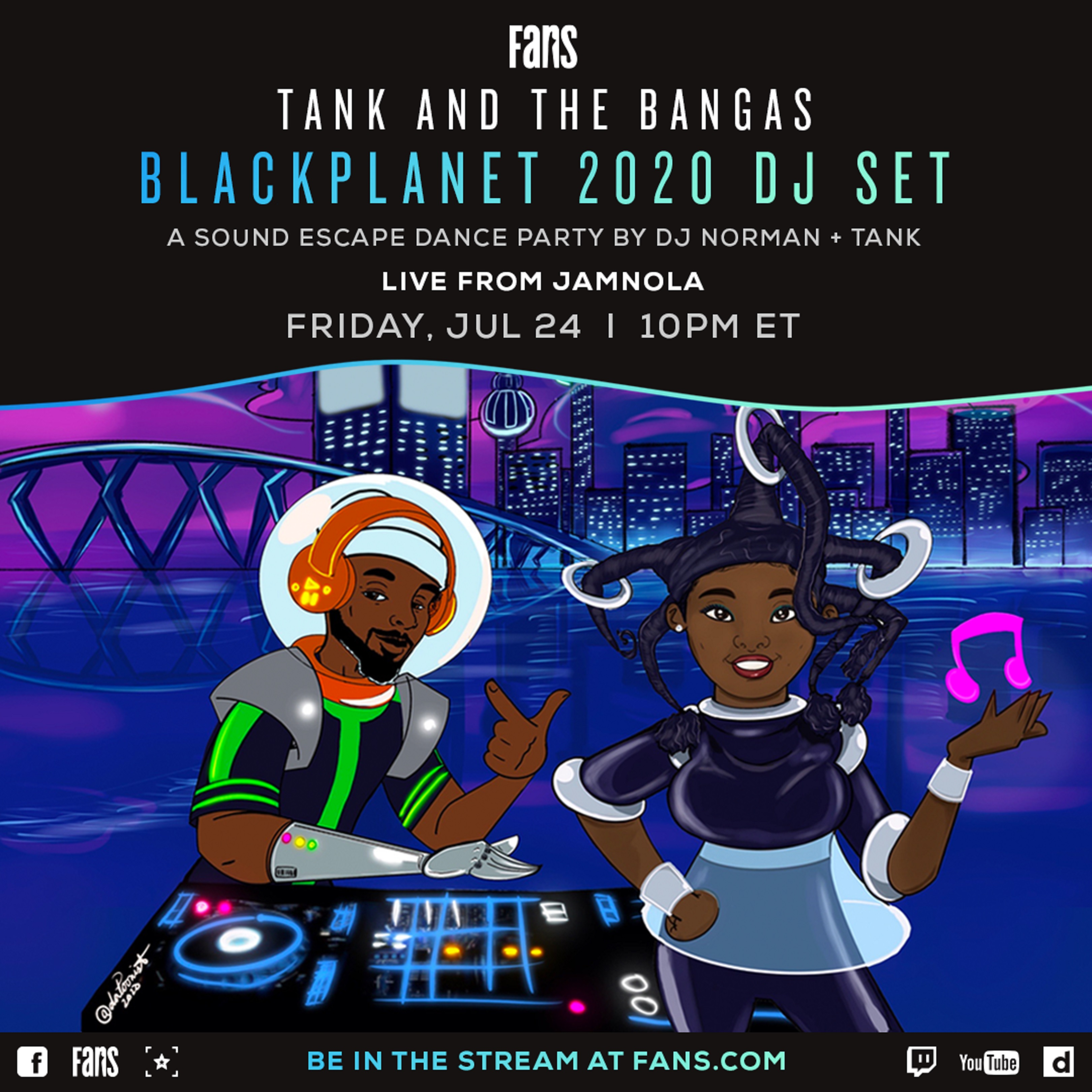 Tank and the Bangas Black Planet 2020 DJ Set