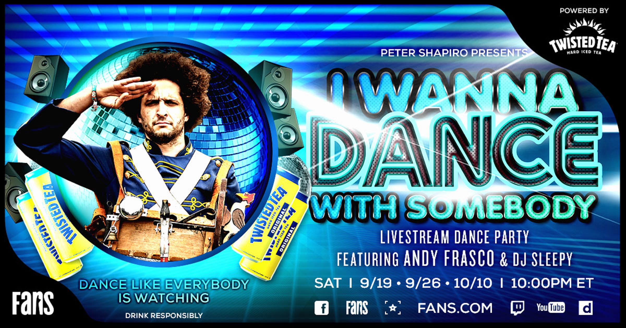 Andy Frasco's 'I Wanna Dance with Somebody' Returns on FANS This Saturday