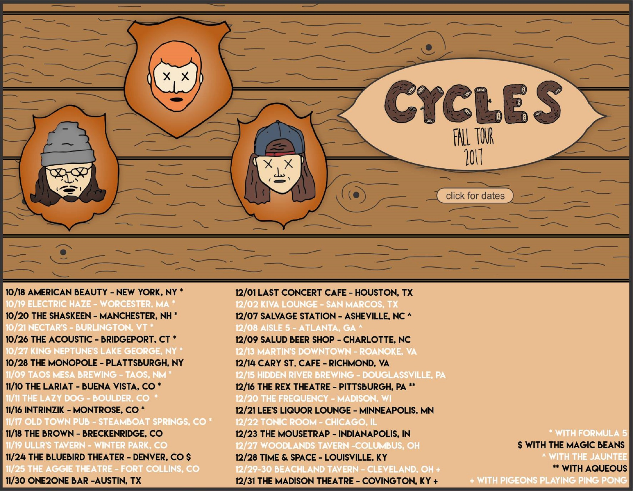 Cycles On Tour This Fall