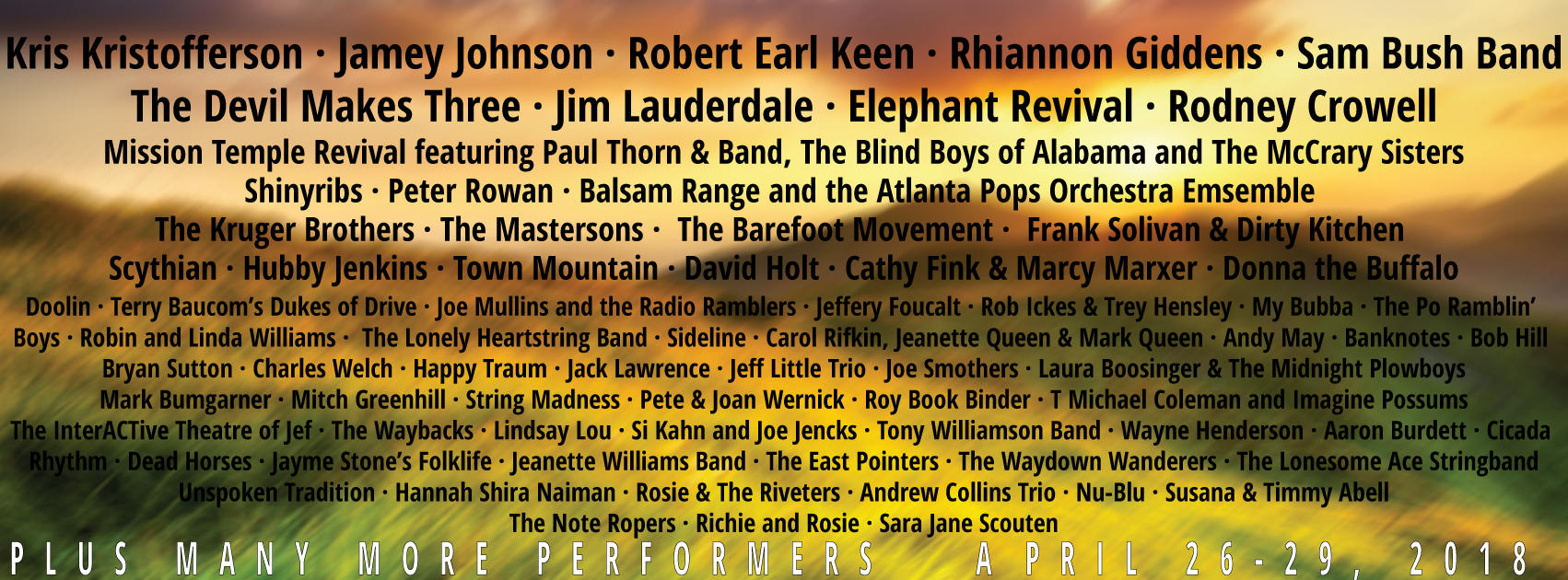 More Artists Added to MerleFest 2018 Lineup