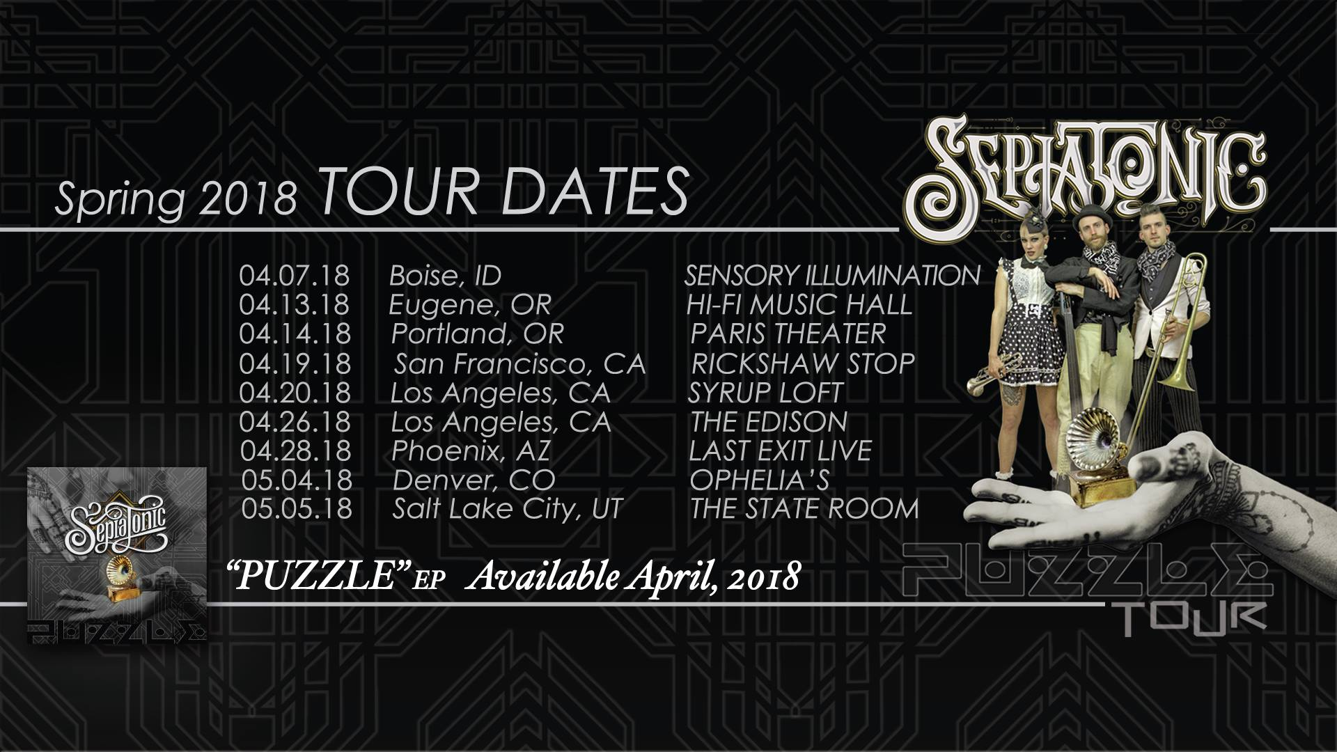 Sepiatonic On Tour This Spring!