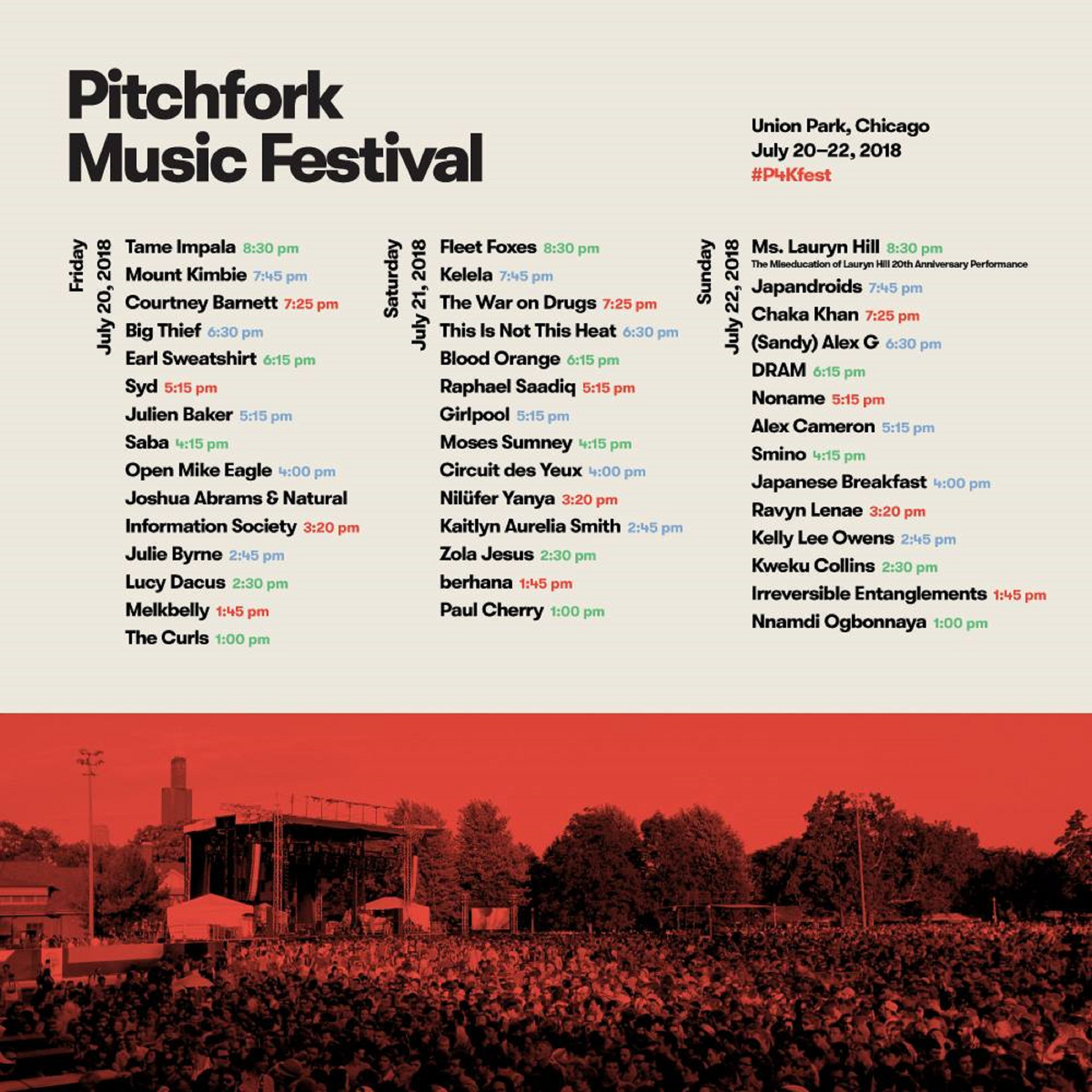 Pitchfork Music Festival 2018 | Preview