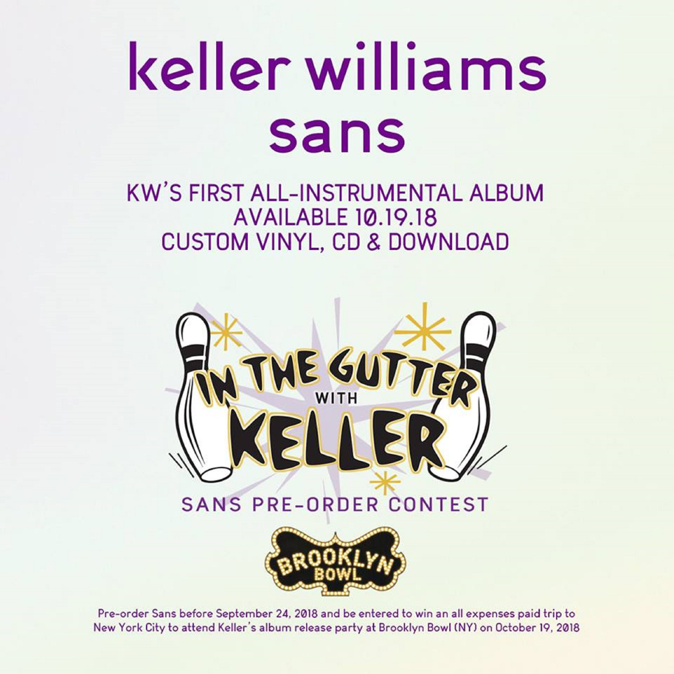 Keller Williams Announces First Instrumental Album SANS Out October 19th