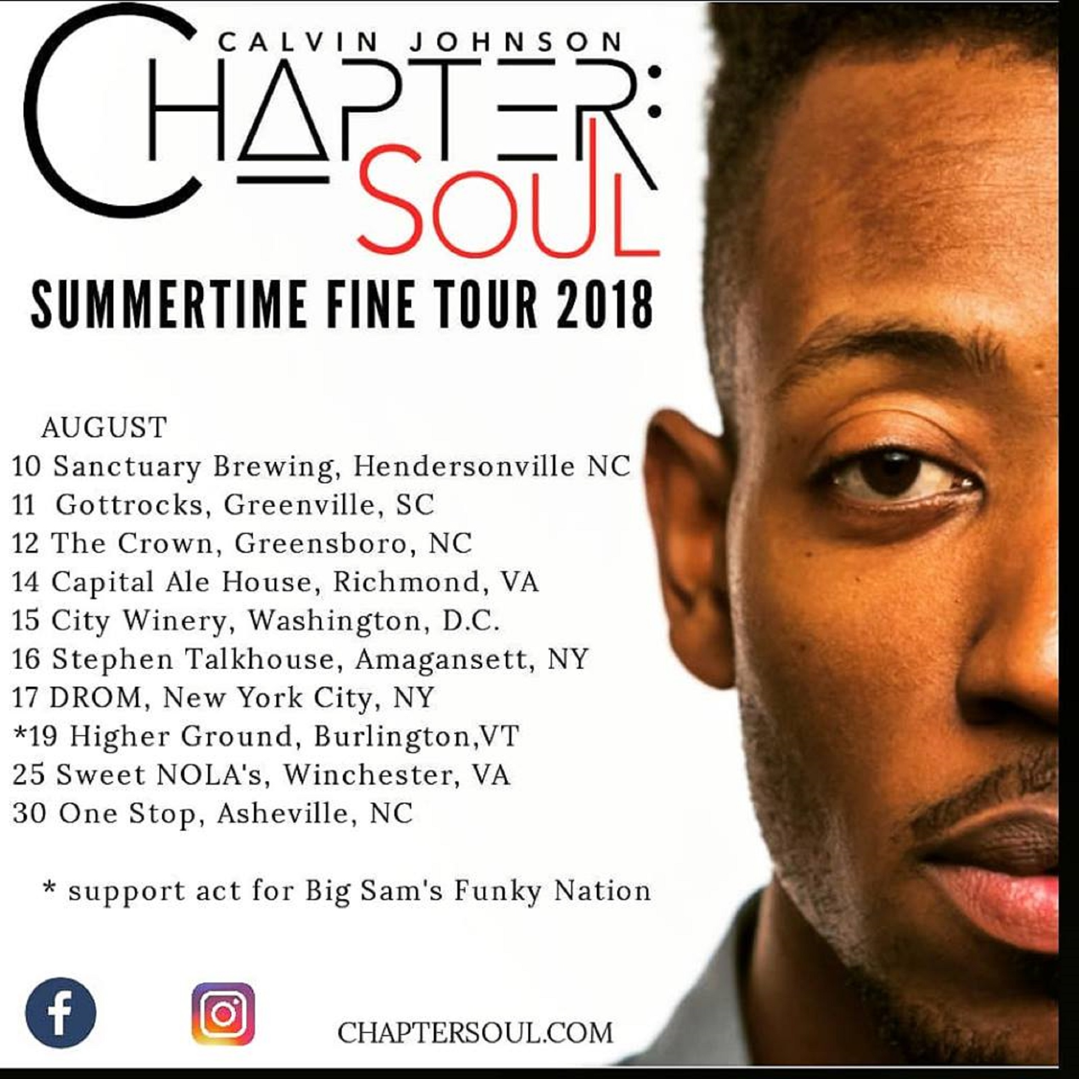 Chapter:SOUL Announce August East Coast Tour