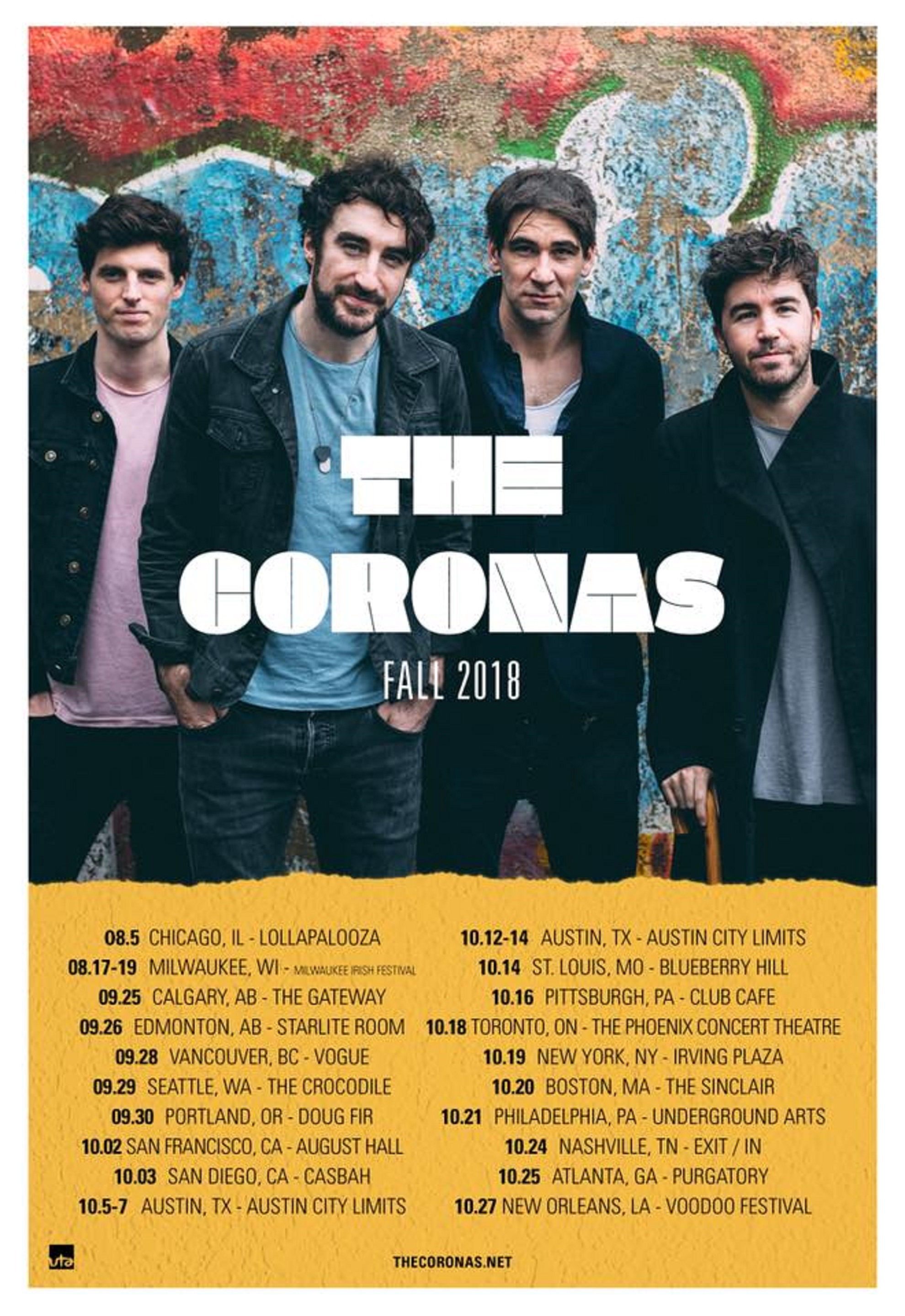 Coronas Kick Off North American Tour on Sunday at Lollapalooza
