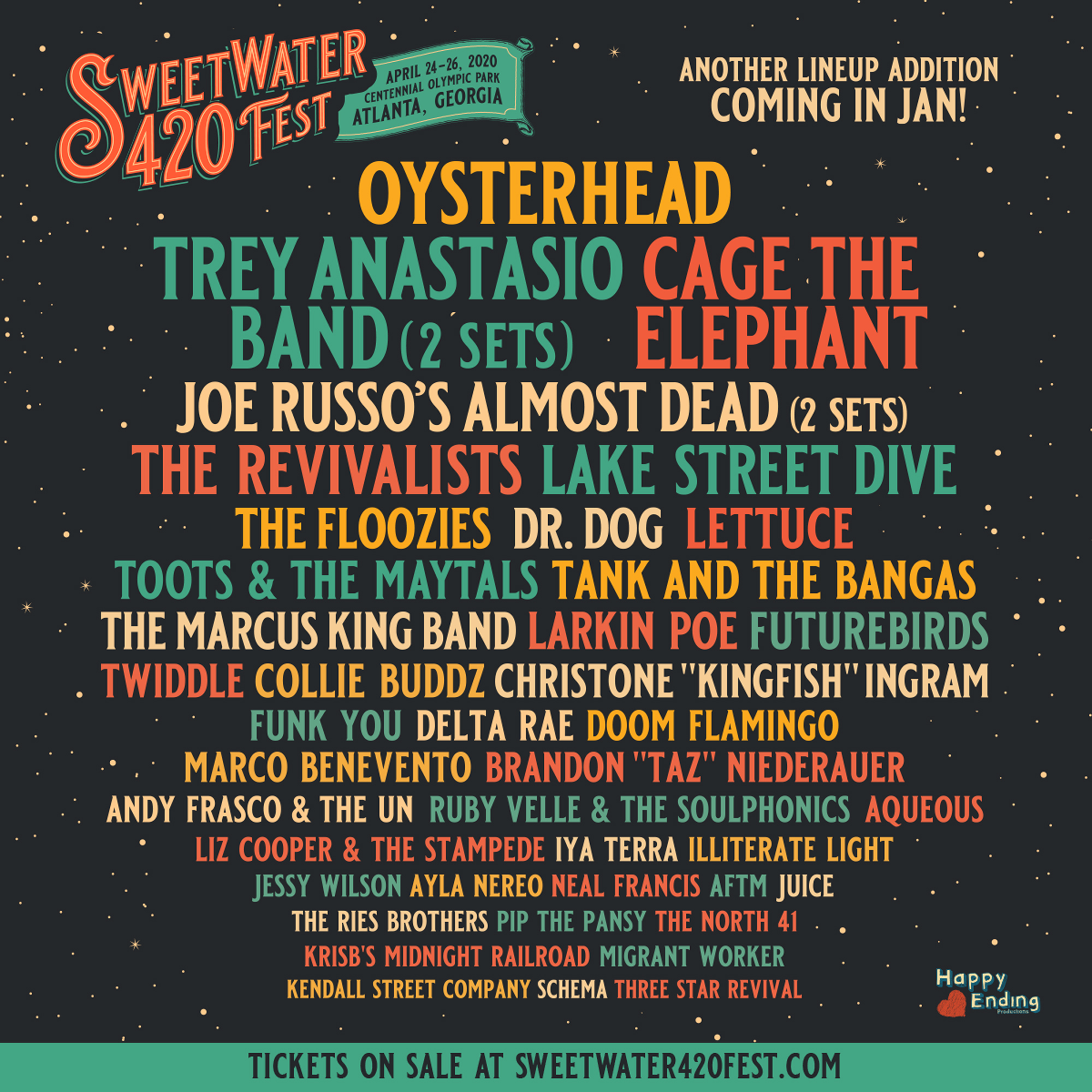 SweetWater 420 Festival Lineup 2020 Additions