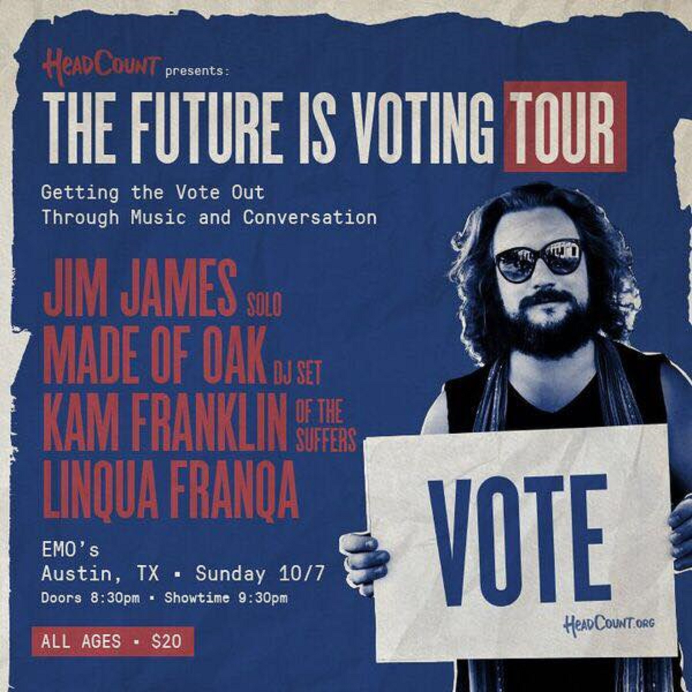 "HeadCount's ""The Future is Voting Tour"" 