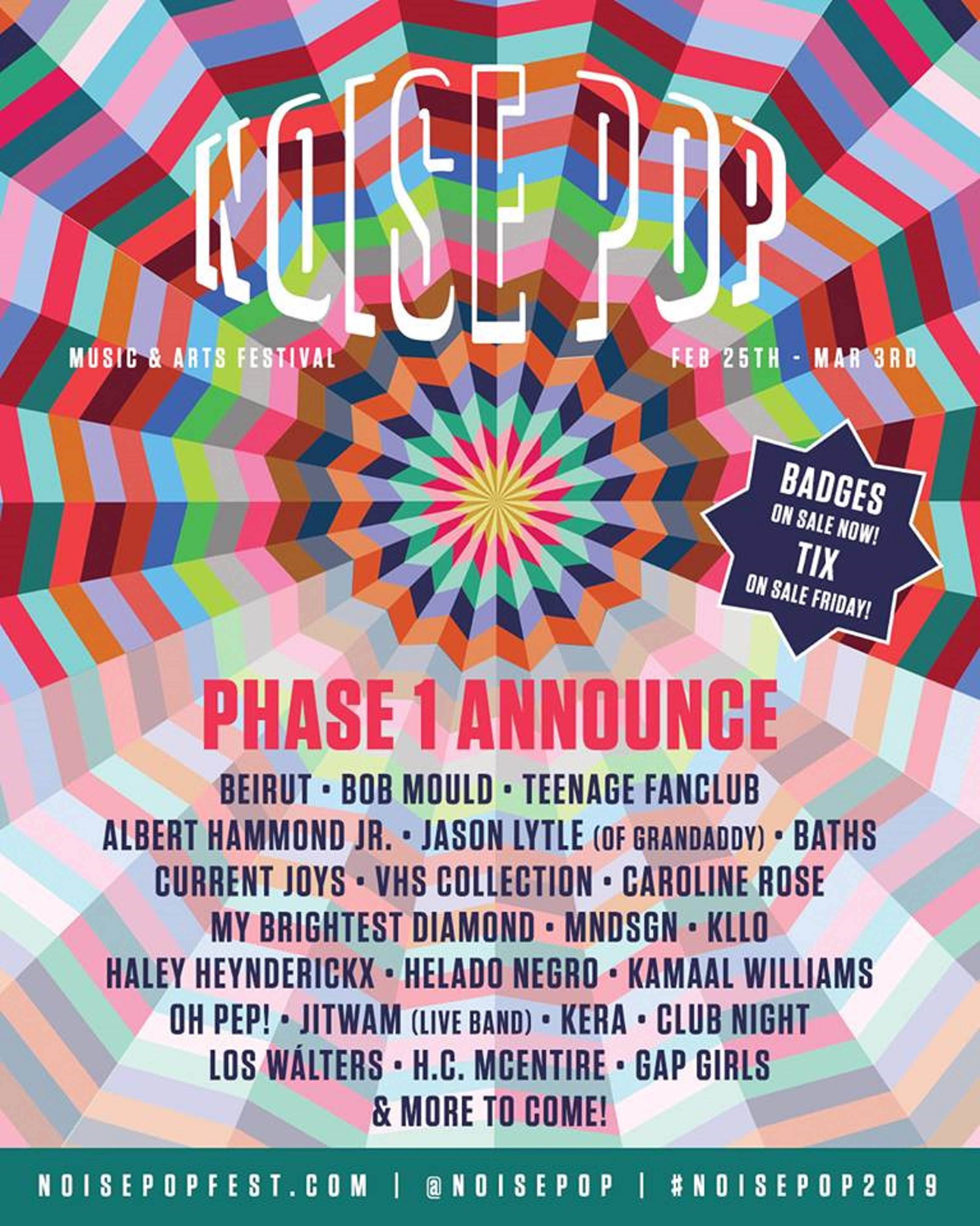 Noise Pop Fest 2019 Announces Initial Lineup