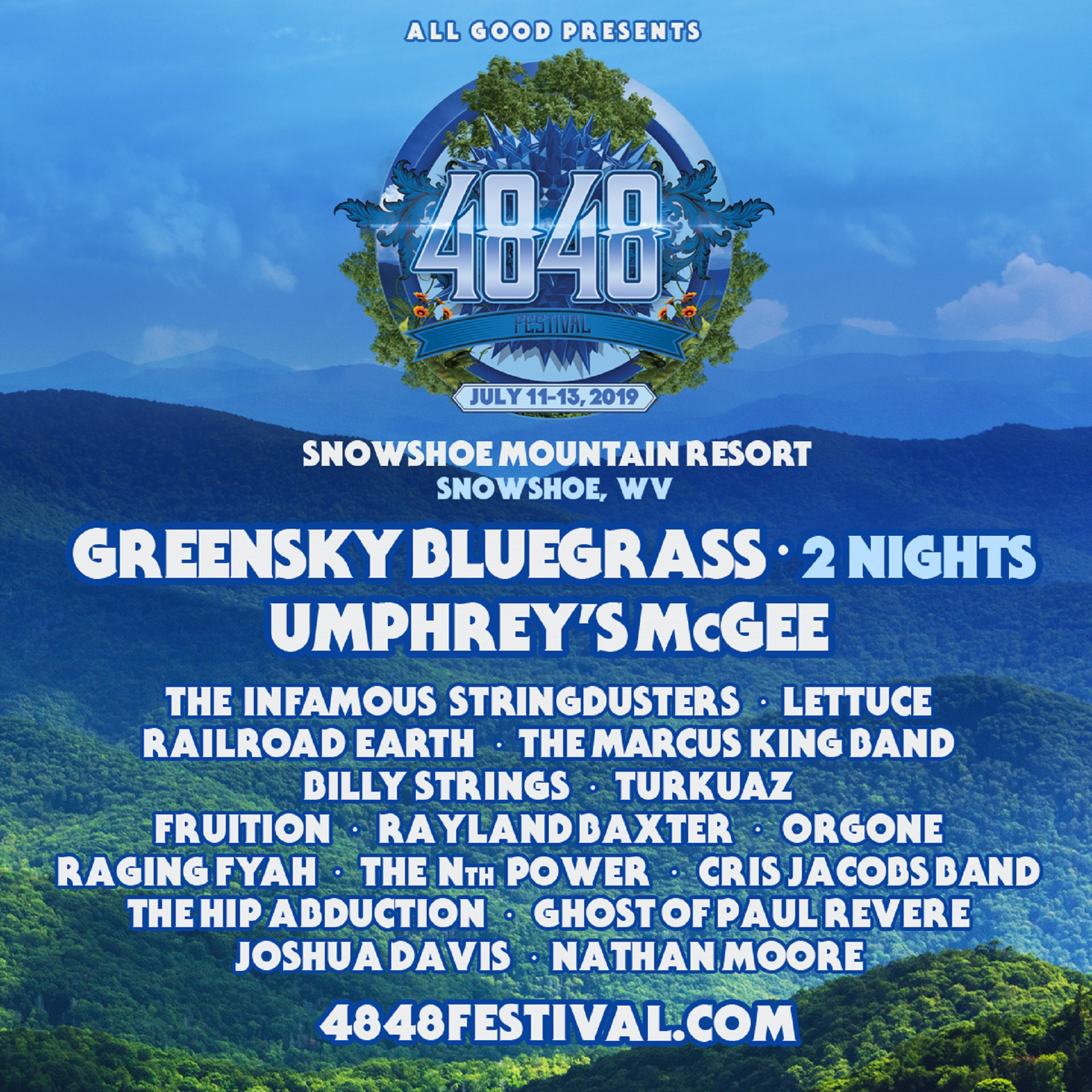 All Good Presents the Inaugural 4848 Festival at Snowshoe Mountain