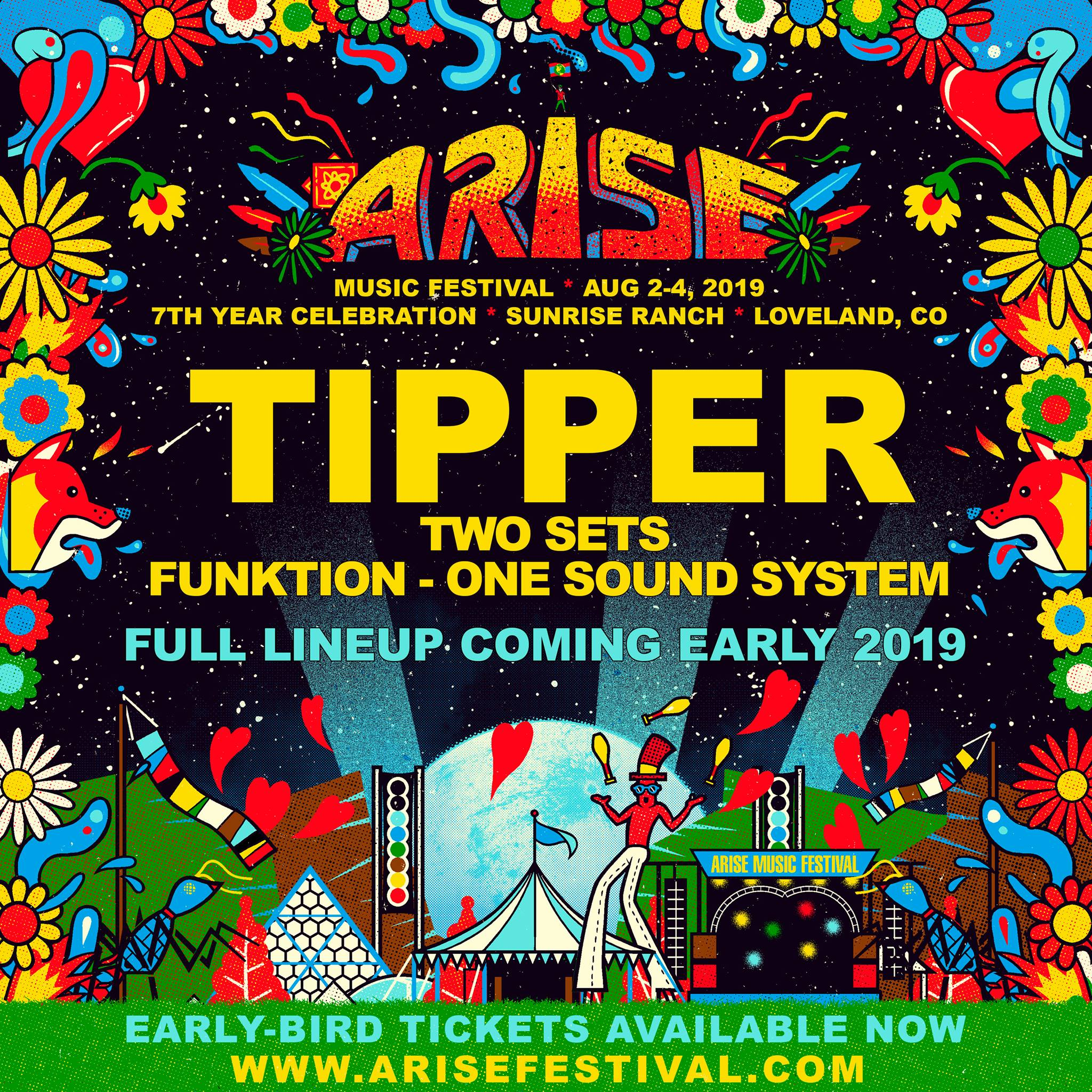 ARISE MUSIC FESTIVAL Announces 2019 Headliner TIPPER