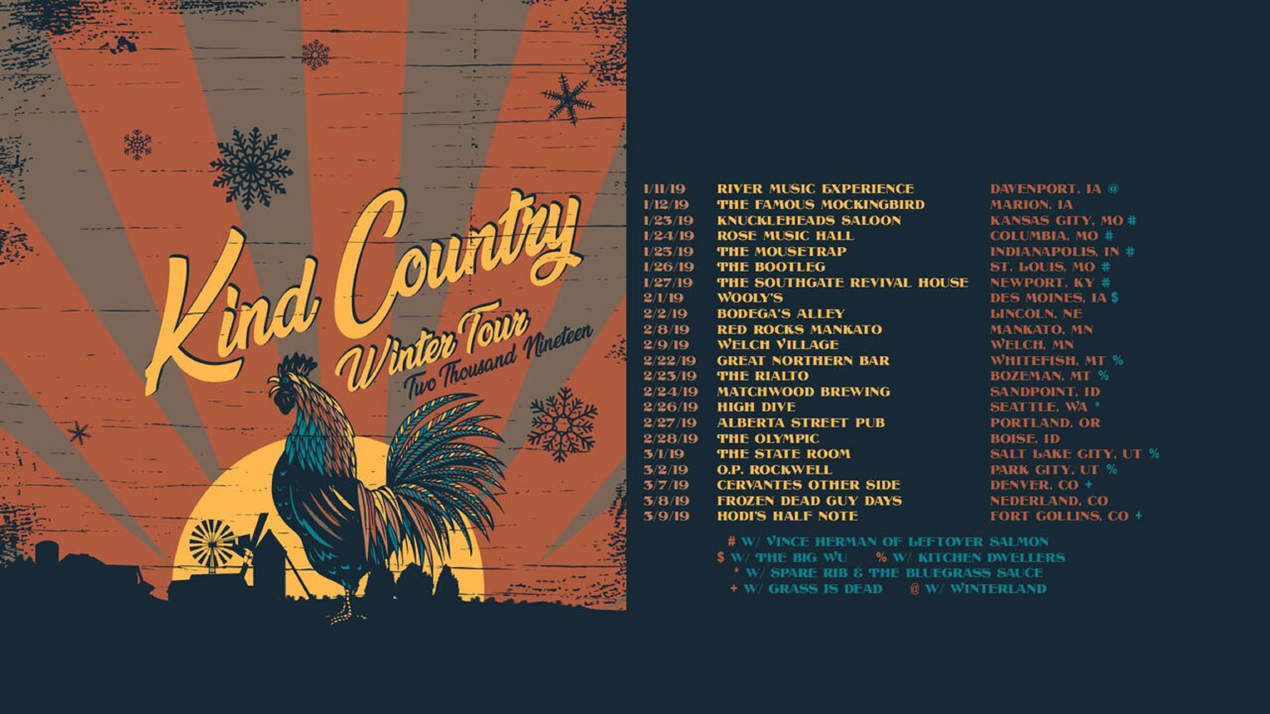 Kind Country On Their 2019 Winter Tour Now
