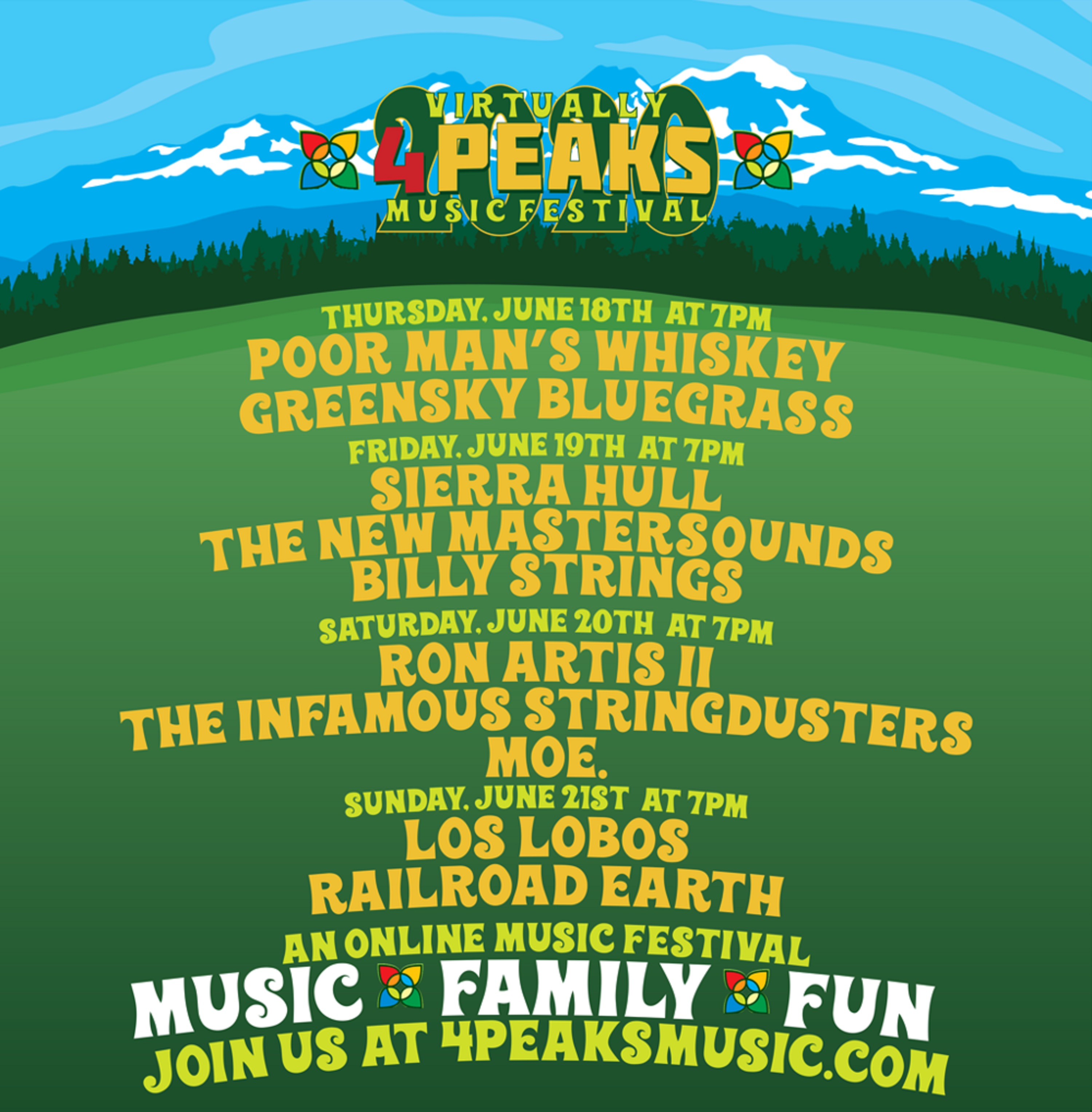 "4 Peaks Presents to Host the ""Virtually 4 Peaks"" Music Festival"