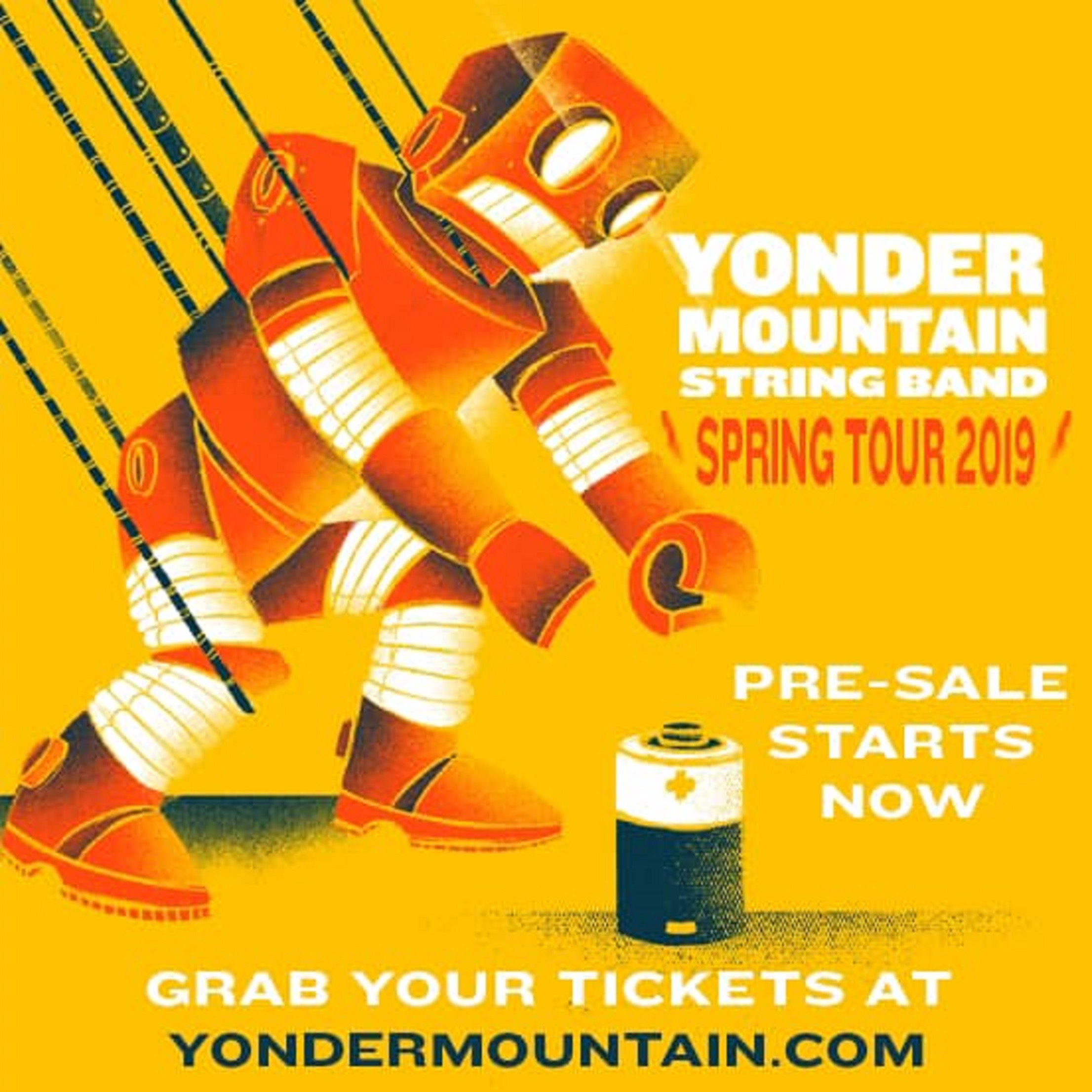 Yonder Mountain String Band Spring Tour 2019