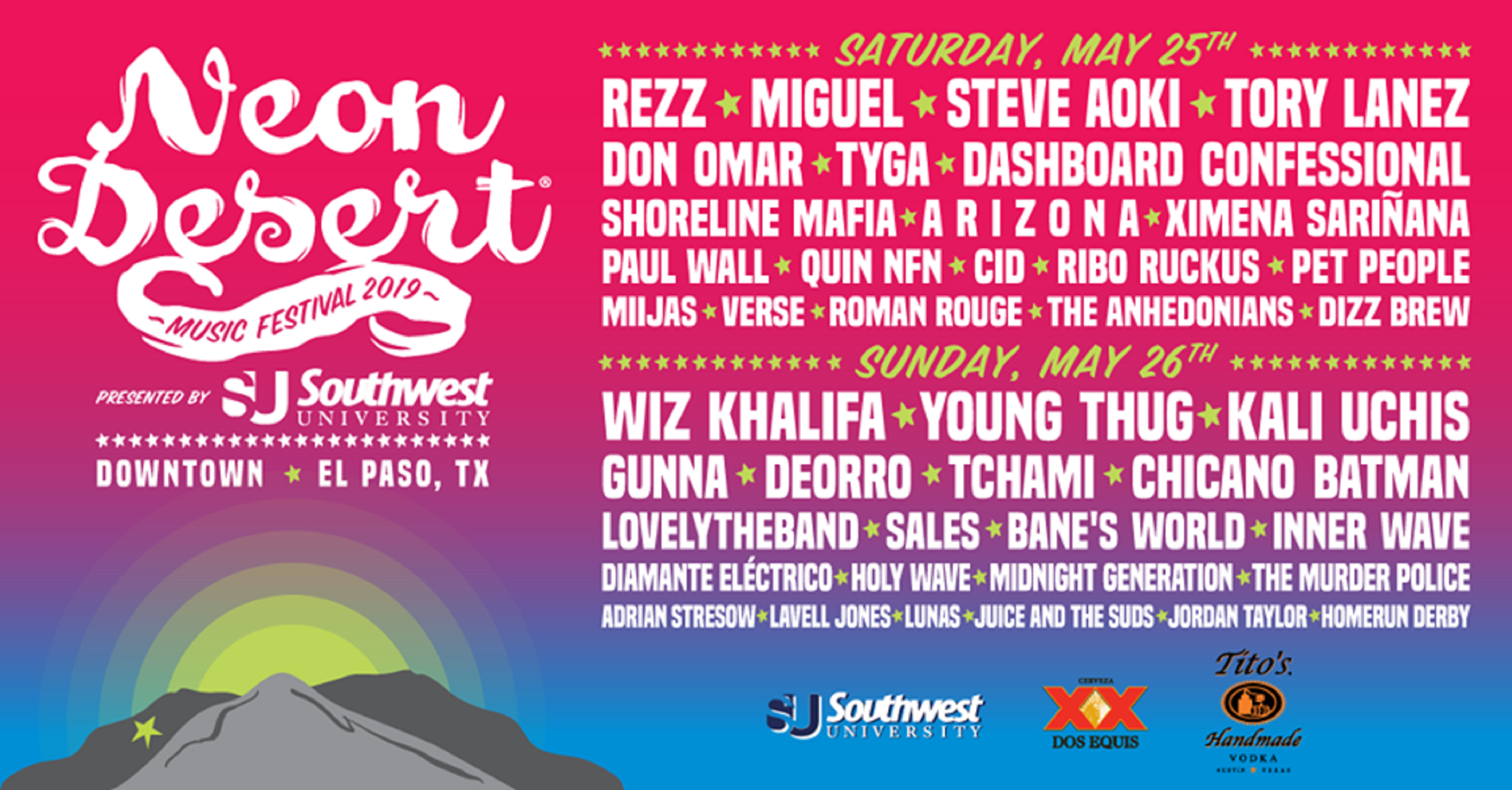 Neon Desert Music Festival Announces Full Lineup