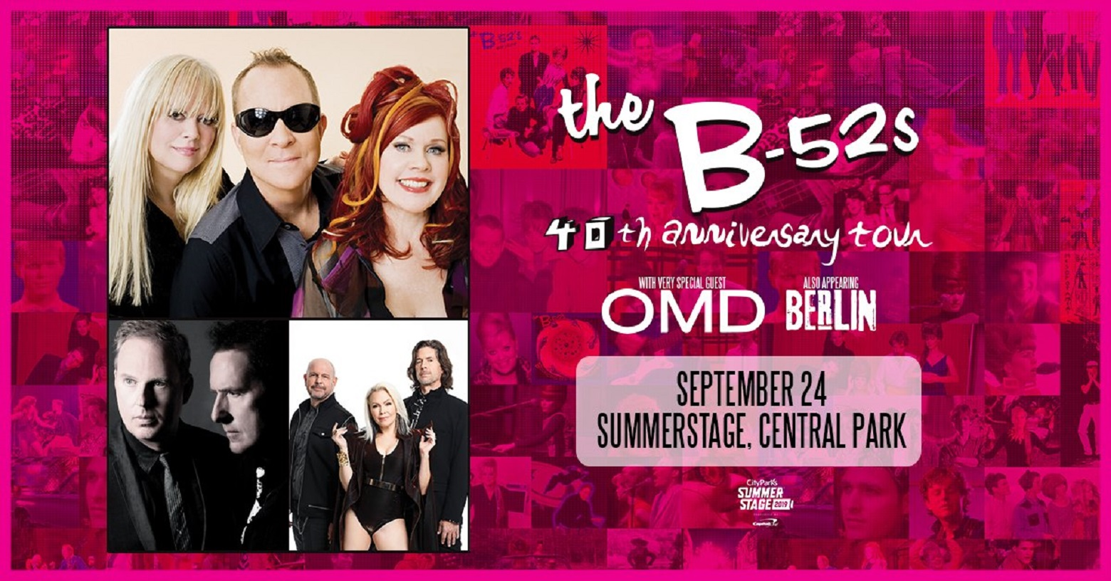 The B-52's to Perform at SummerStage in Central Park on Tuesday