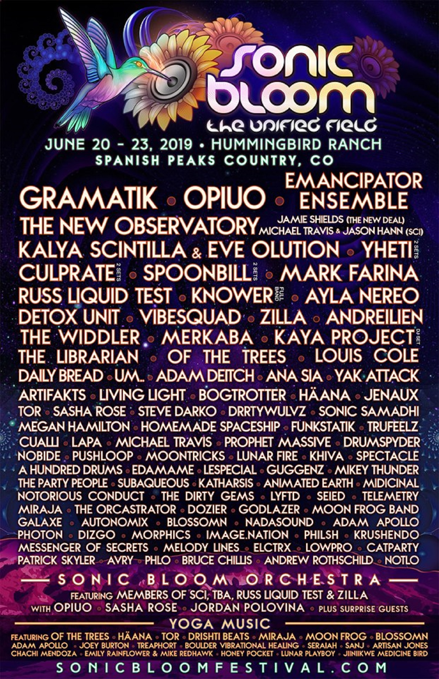 14th Annual SONIC BLOOM Announces Phase 3 of Musical Artists
