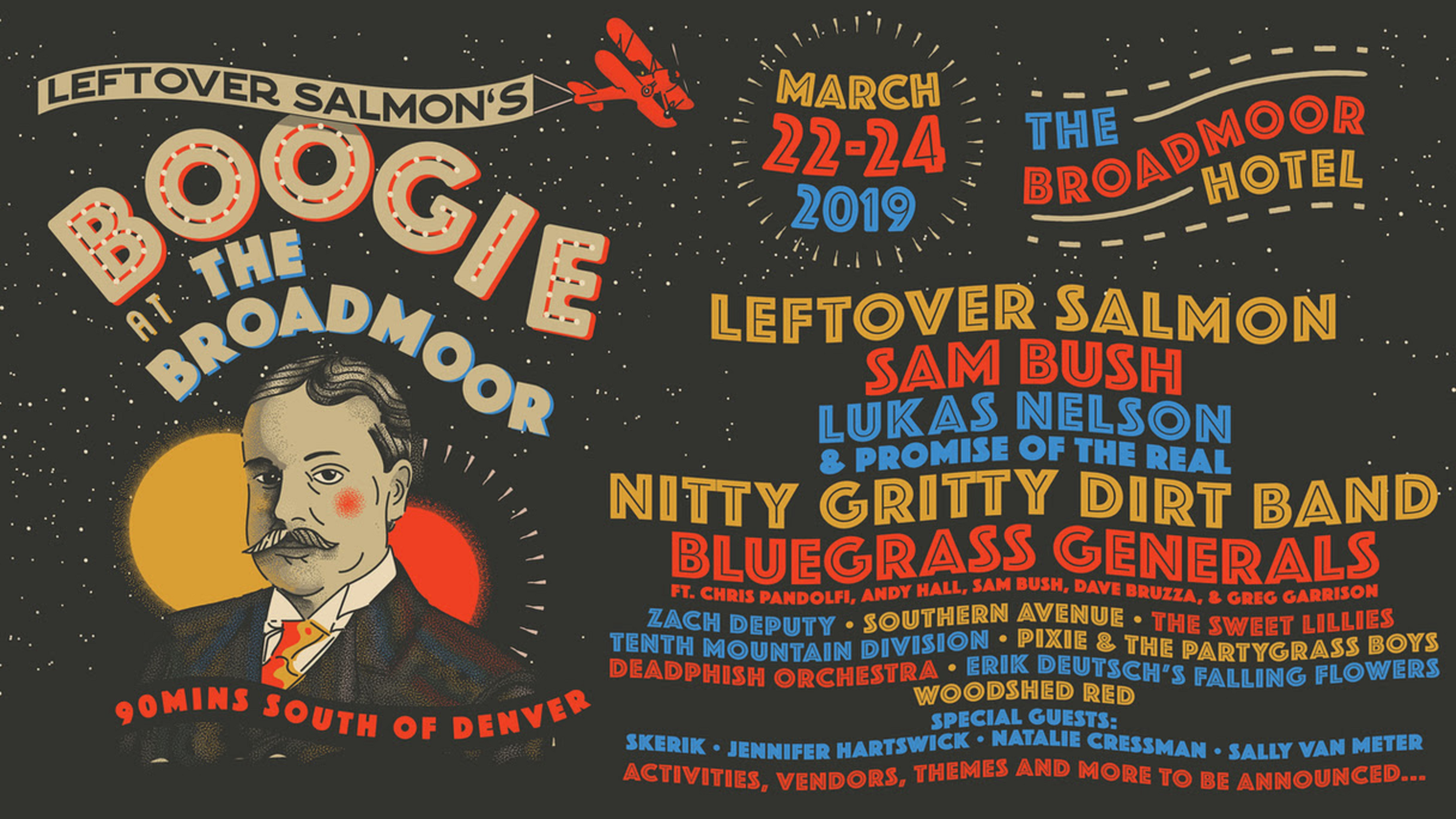 Sam Bush, Bluegrass Generals, Zach Deputy, and More Added to Leftover Salmon's Boogie At The Broadmoor