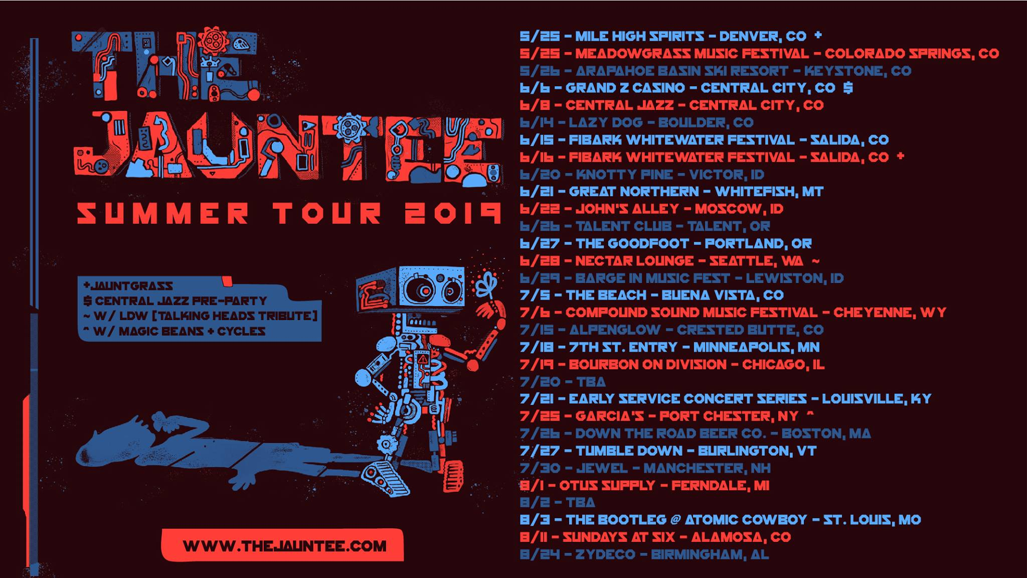 The Jauntee Announce Summer Tour 2019