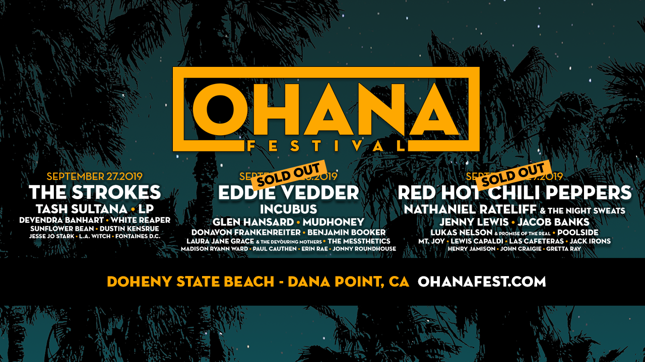 OHANA FESTIVAL: Set Times, Sponsors And On-Site Activations Announced