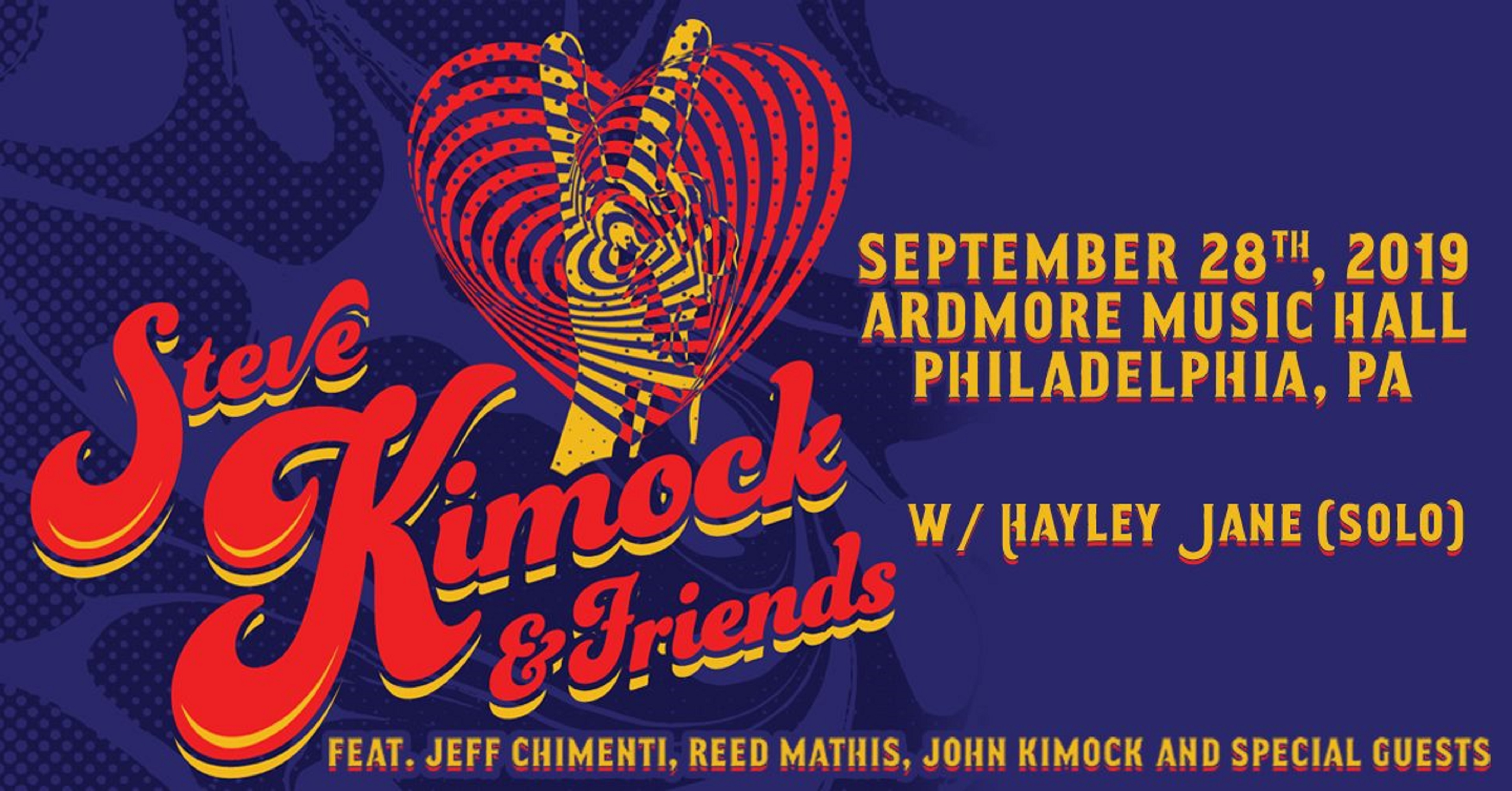 Steve Kimock & Friends to play the Ardmore on September 28th!