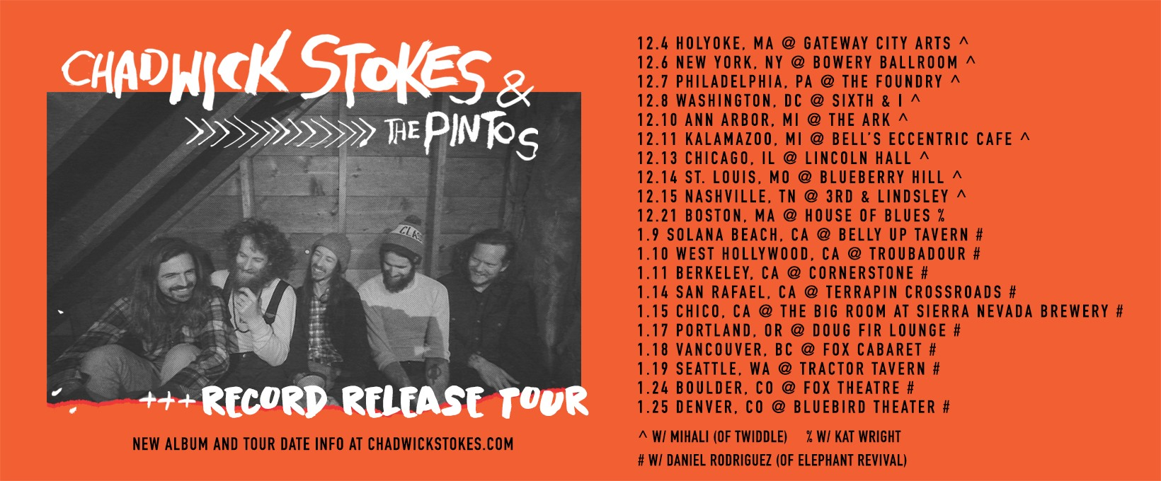 Chadwick Stokes & The Pintos Kick Off Winter Tour Today!