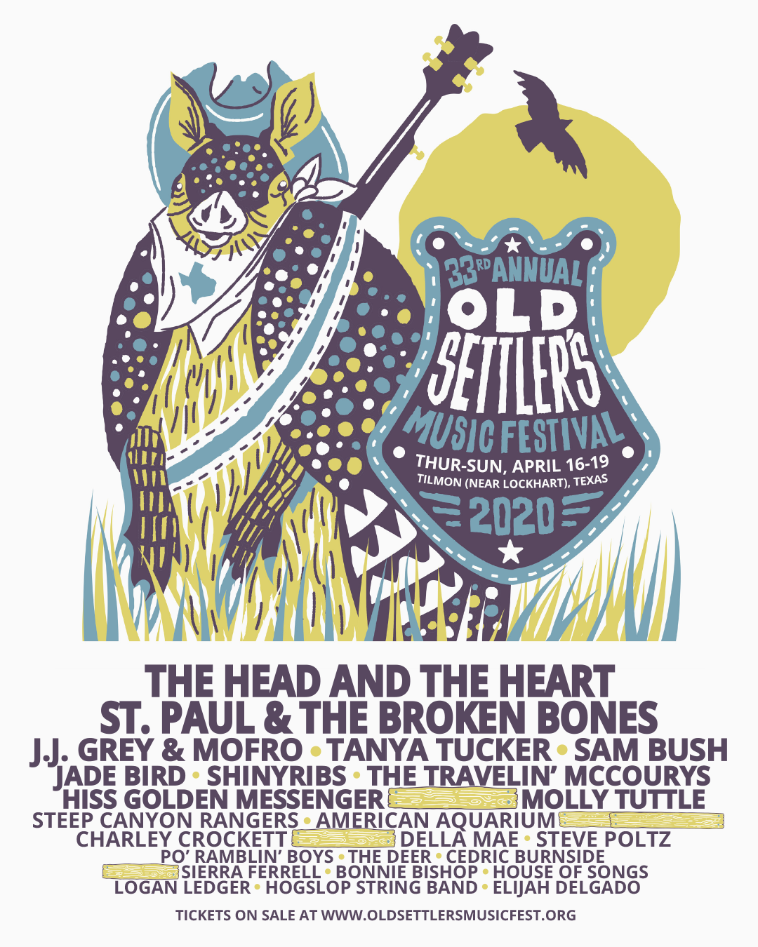 The Head and The Heart, St. Paul & The Broken Bones, Tanya Tucker to Headline the 2020 Old Settler's Music Festival
