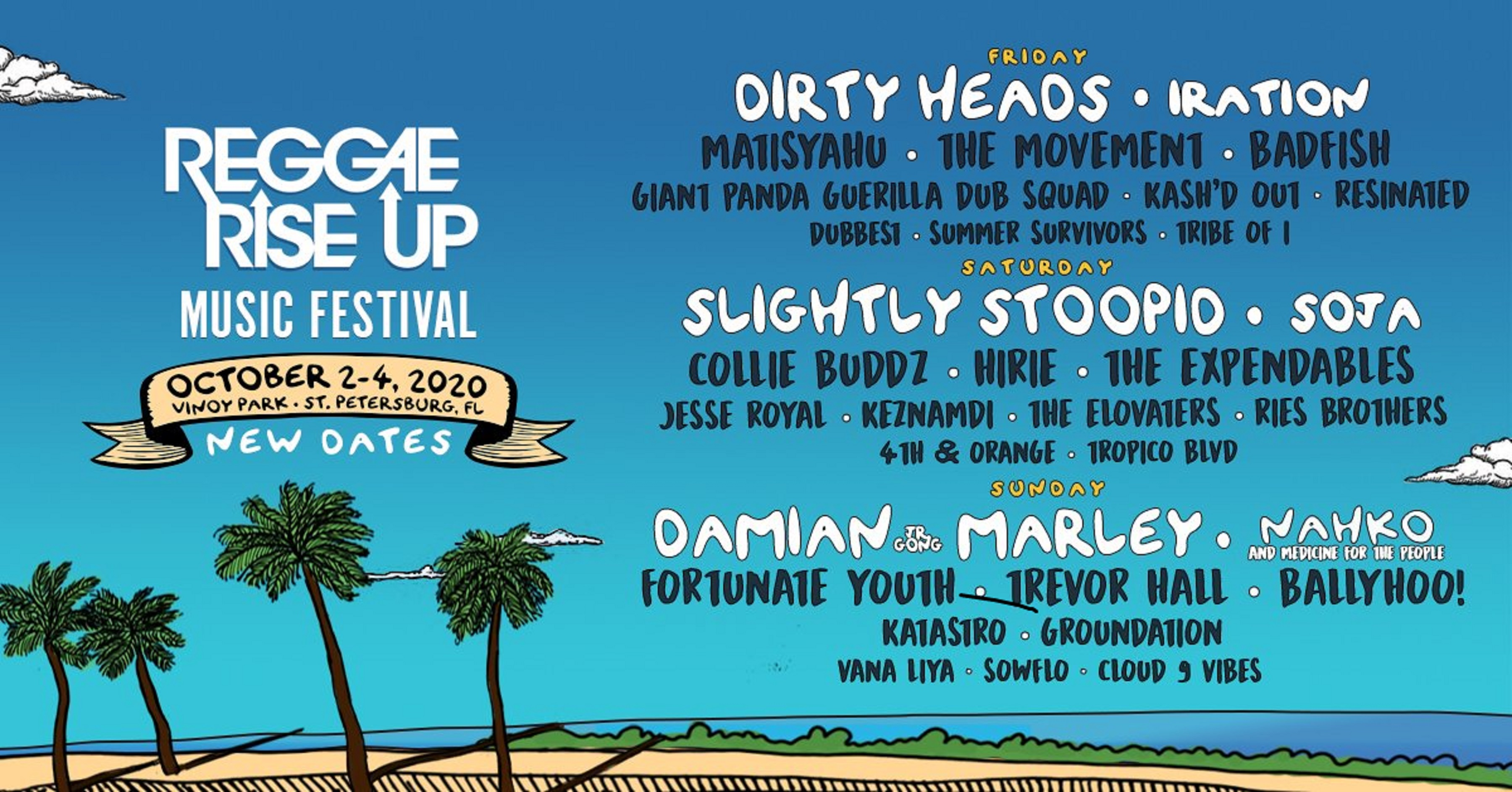 Reggae Rise Up Florida Announces Lineup Adjustments & Ticket Swap