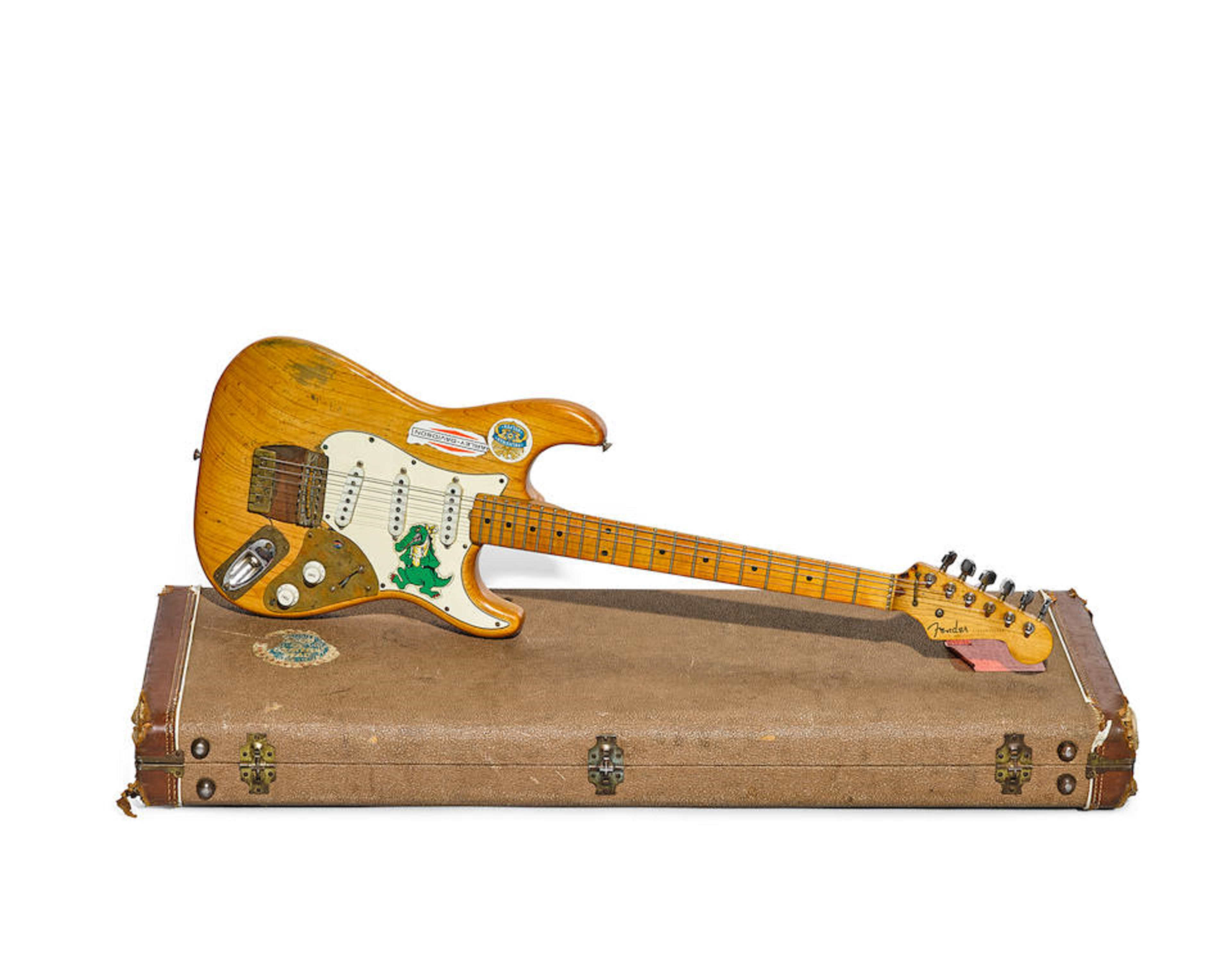"Introducing the new owner of Jerry Garcia's ""Alligator"" guitar"