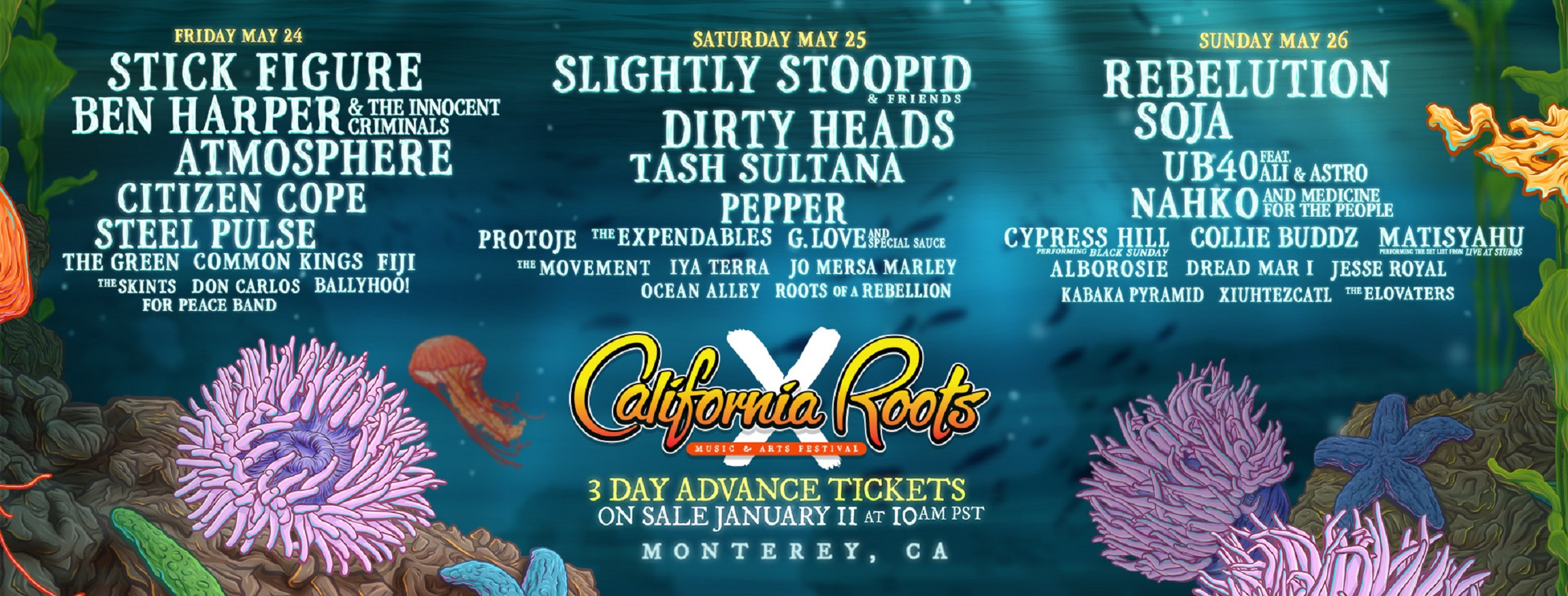 10th Annual California Roots Music And Arts Festival Announces Final Lineup Grateful Web