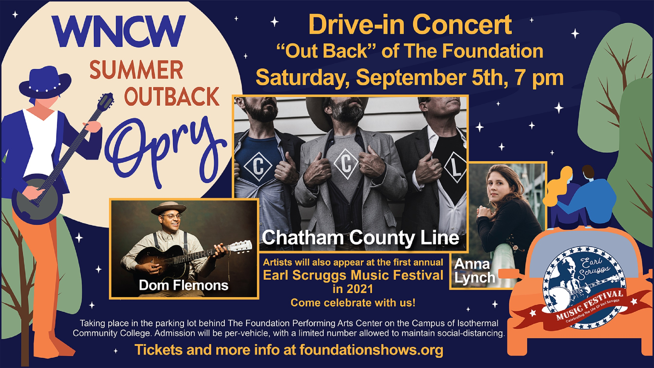 Earl Scruggs Music Festival showcase on September 5 in Spindale, NC