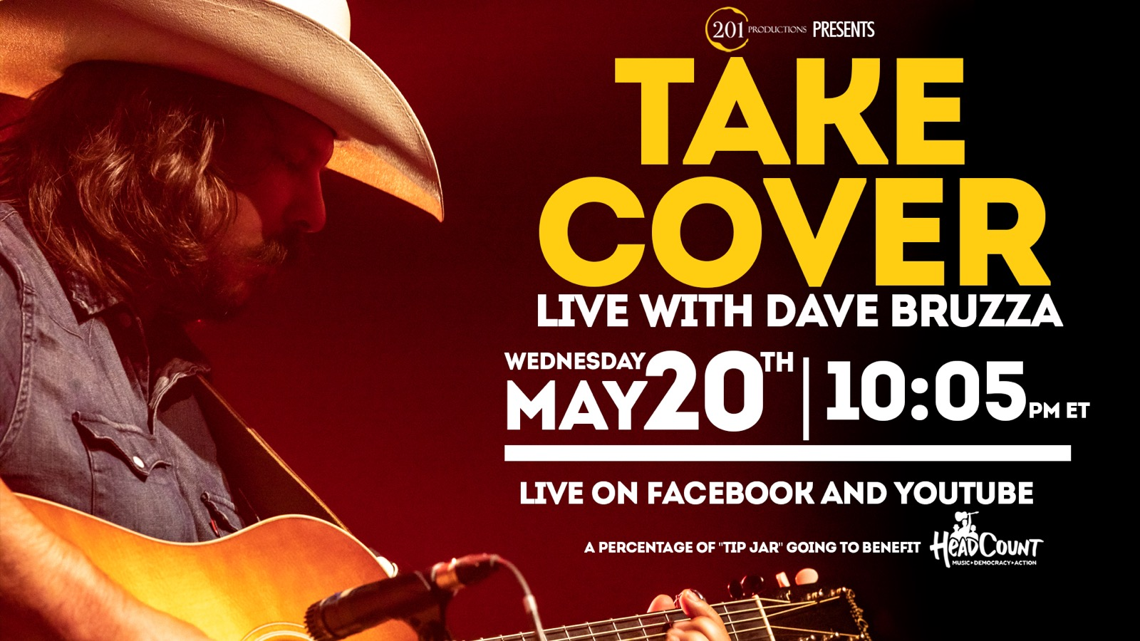 Dave Bruzza Goes Live with Take Cover