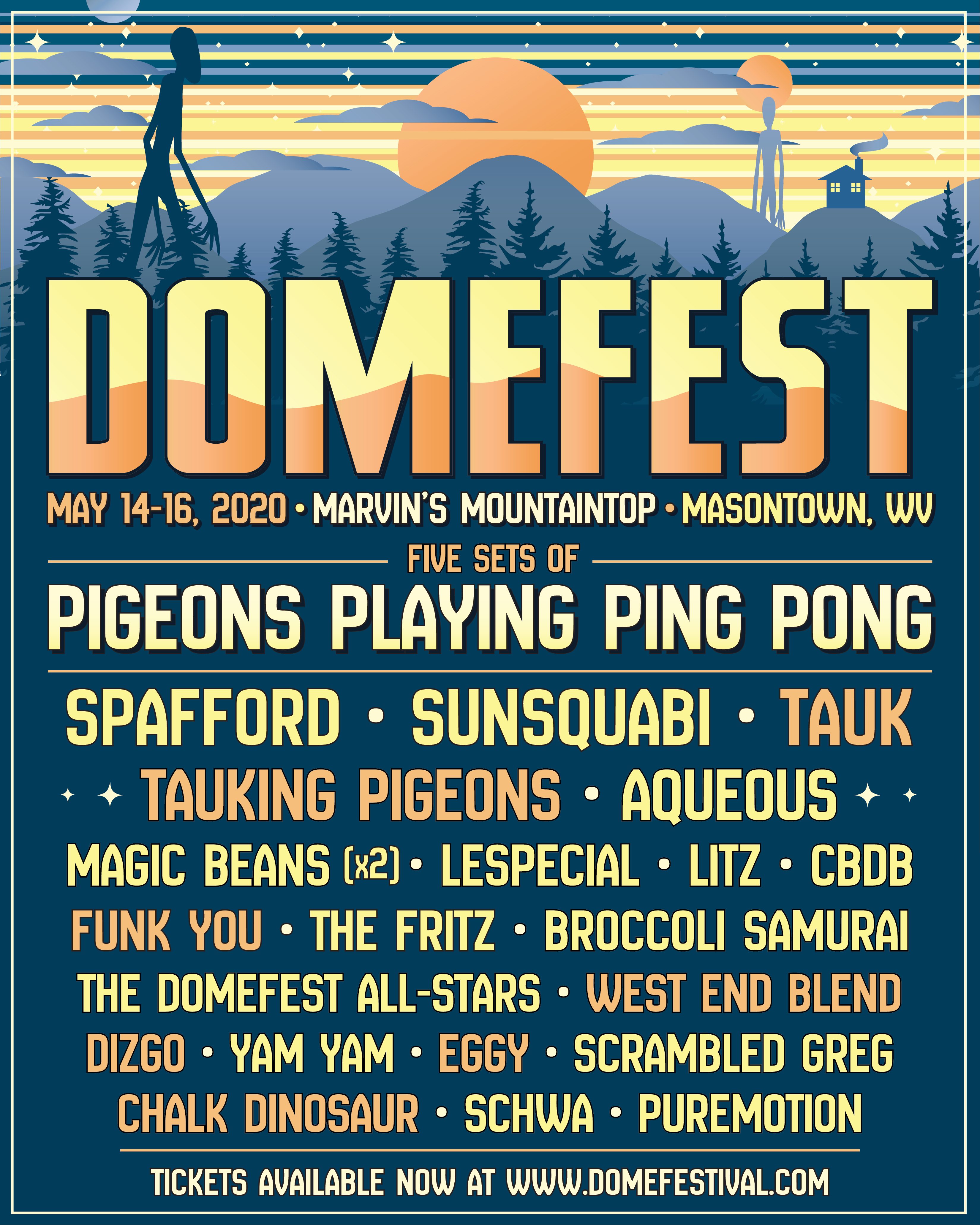 "Domefest Shares Final 2020 Lineup Including Special ""Tauking Pigeons"" Collaborative Set"