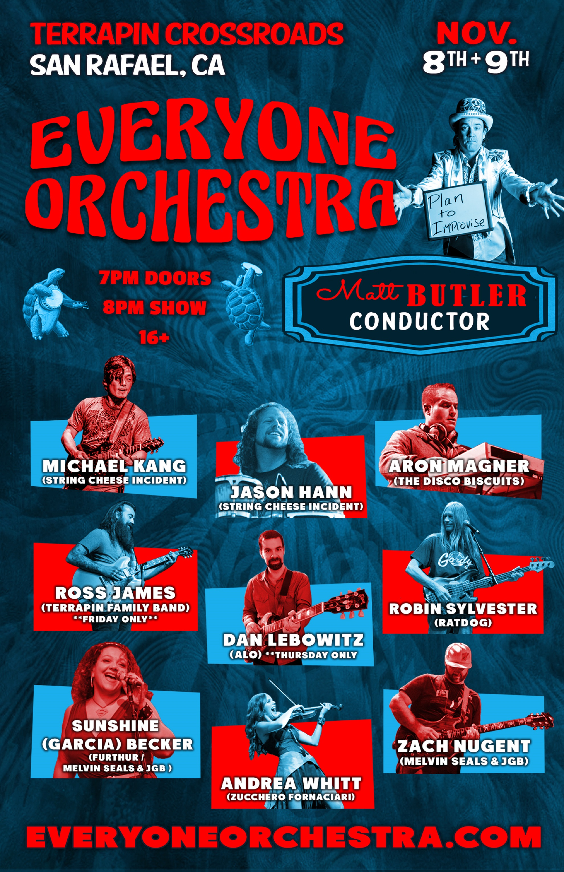 Everyone Orchestra at Terrapin Crossroads, Nov 8-9