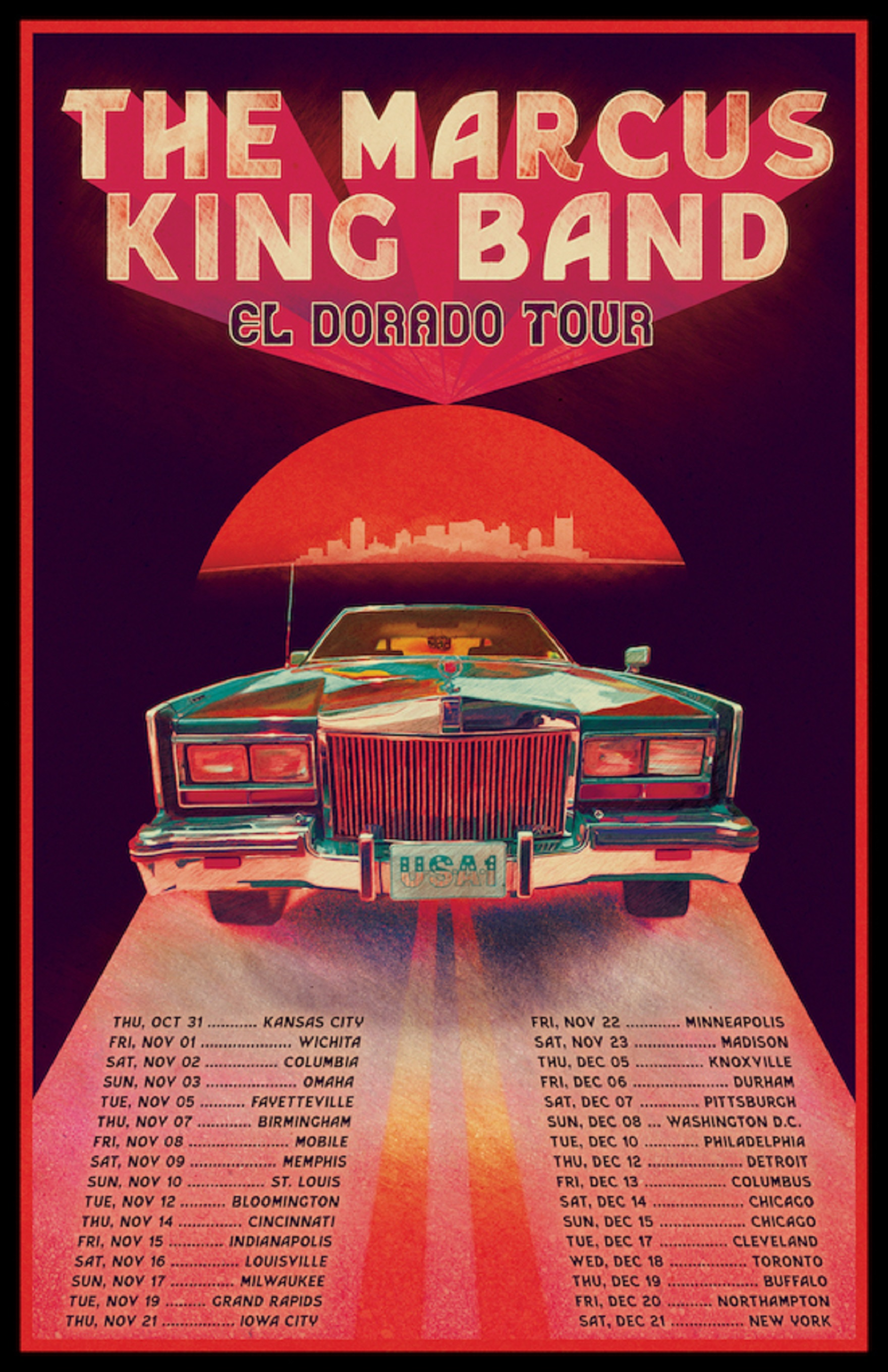 THE MARCUS KING BAND ANNOUNCE  32 DATE WINTER USA EL DORADO TOUR
