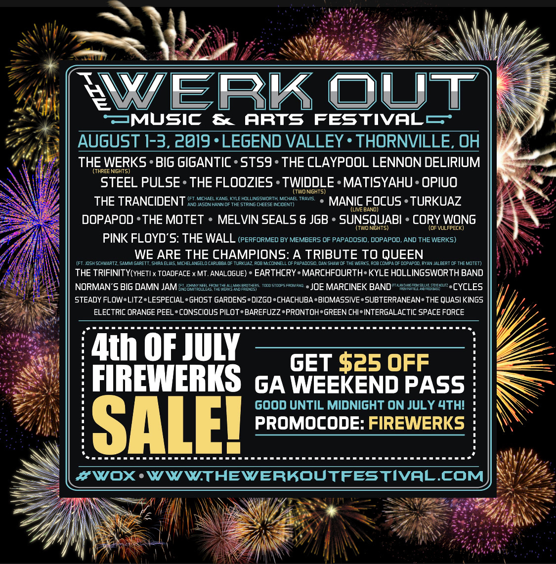 The Werk Out Announces 2019 Daily Lineups