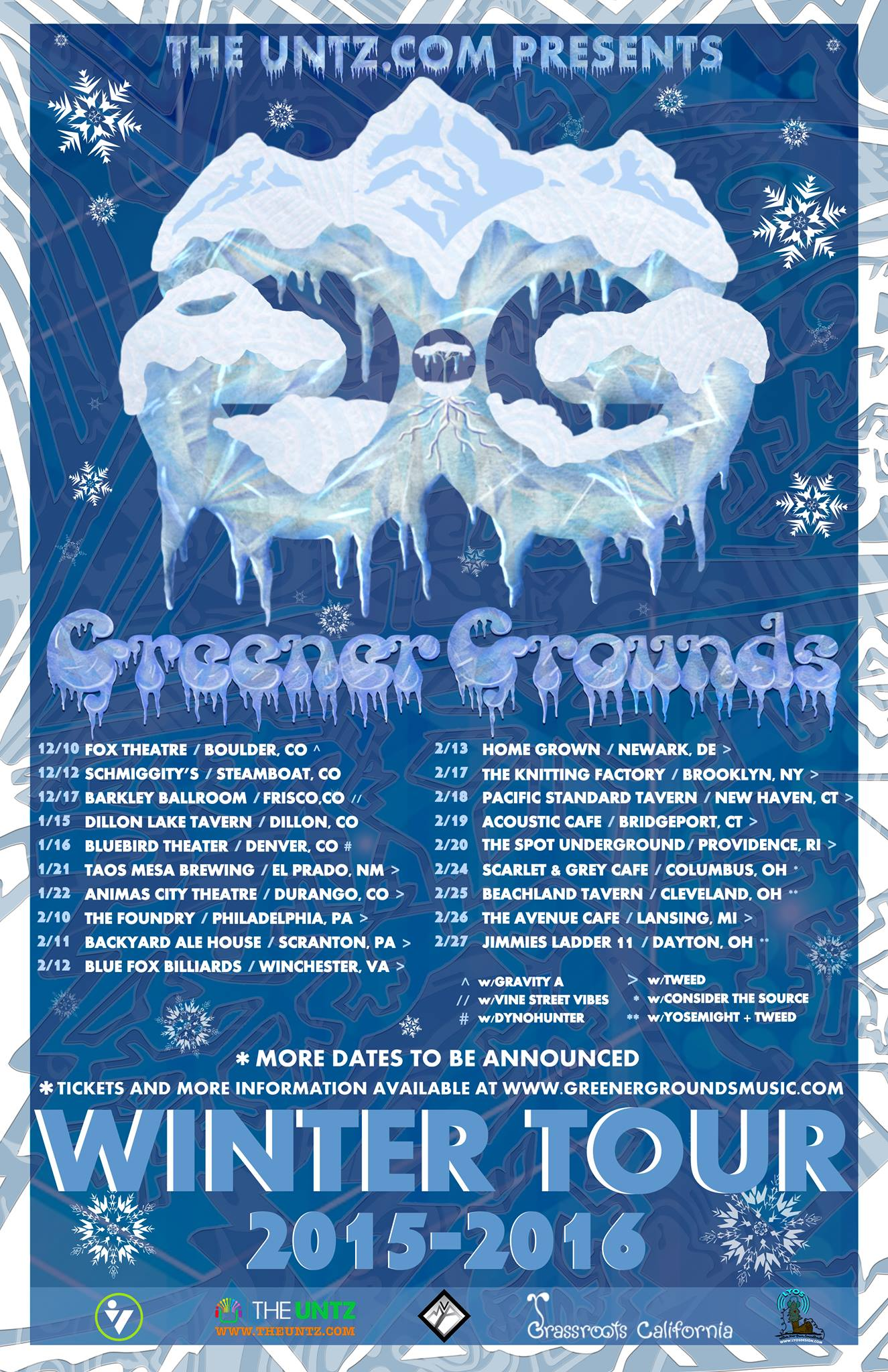 Greener Grounds Announce Winter Tour
