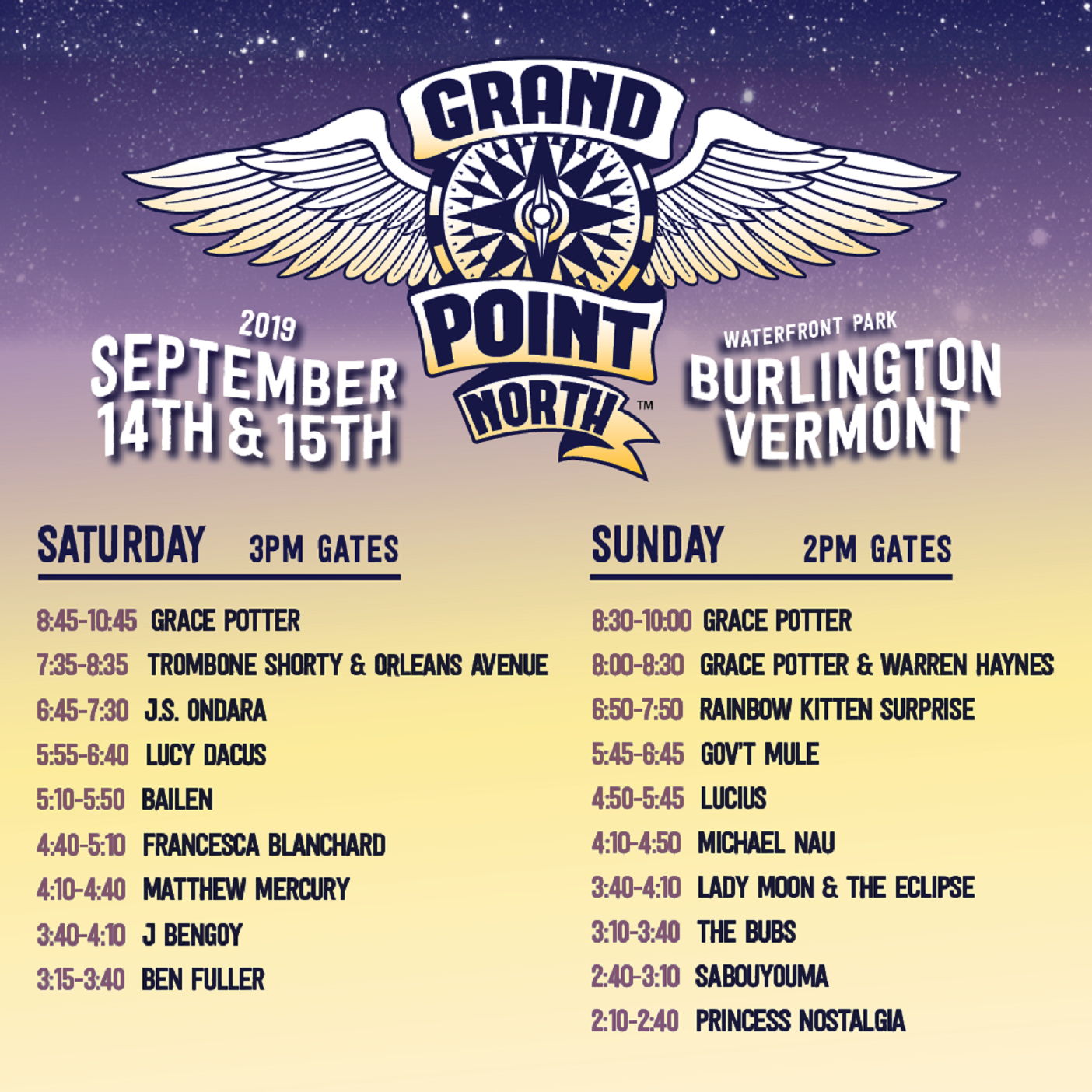 Grand Point North Festival Announces Set Times