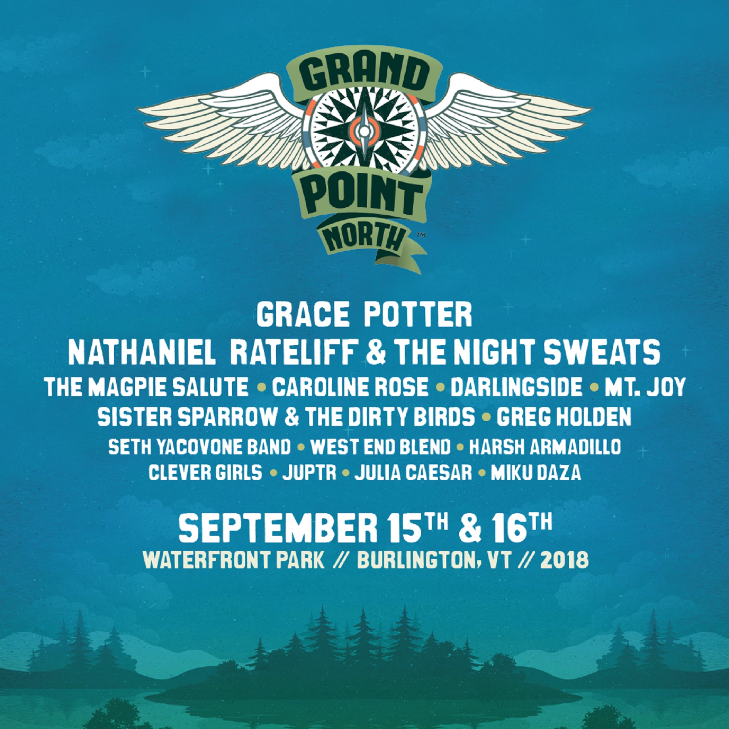 Grand Point North Festival Announces 2018 Lineup