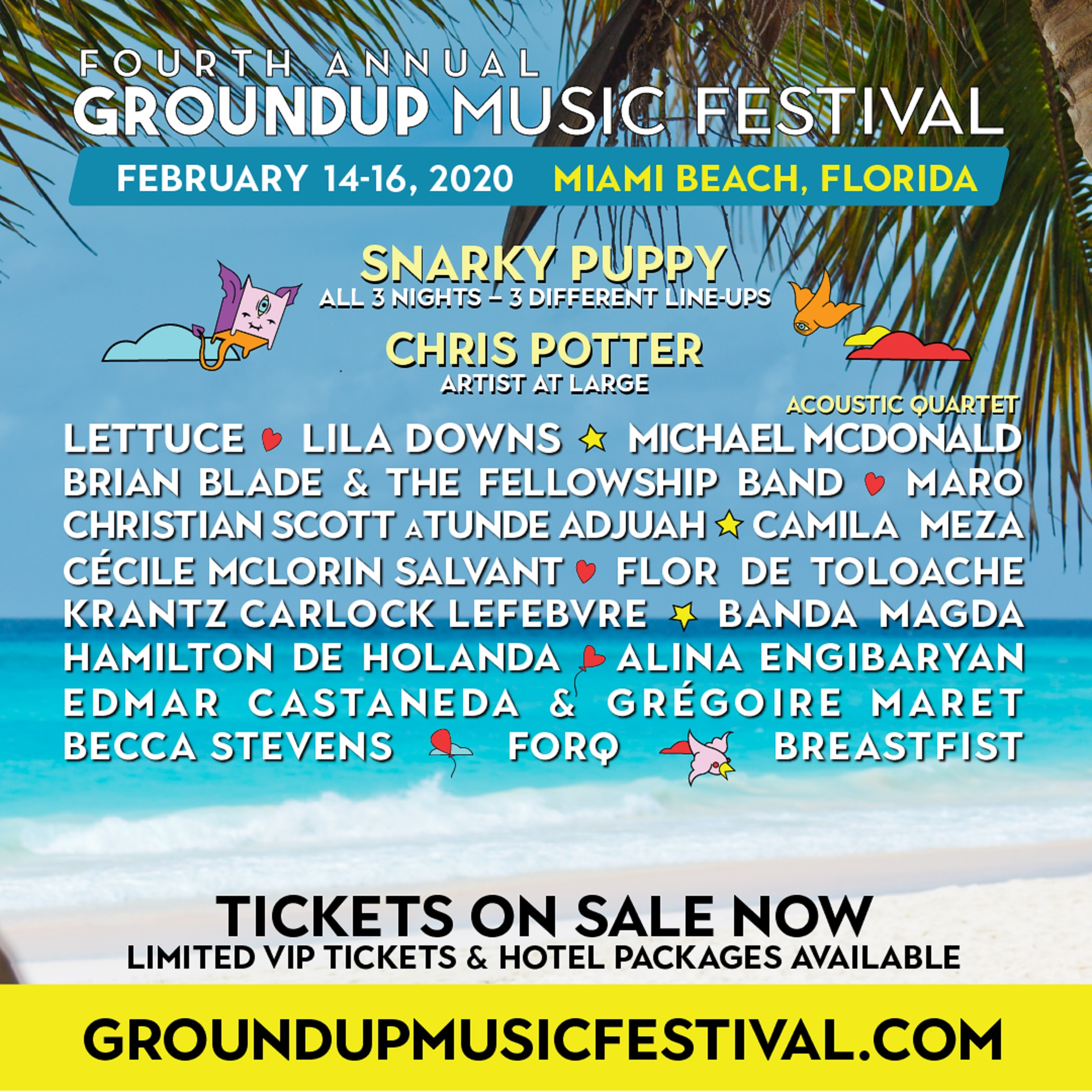 GroundUP Music Festival Reveals 2020 Lineup