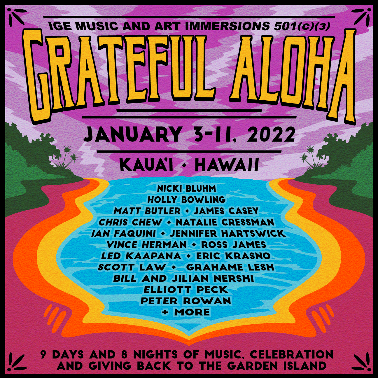 Innovative Giving Enhancement (IGE) Announces Kaua'i Immersion 'Grateful Aloha' Jan. 2022