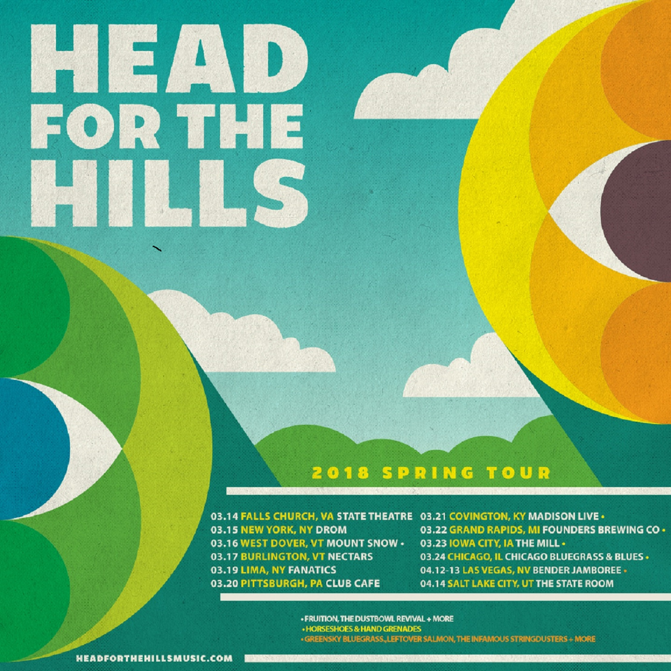HEAD FOR THE HILLS 2018 SPRING TOUR