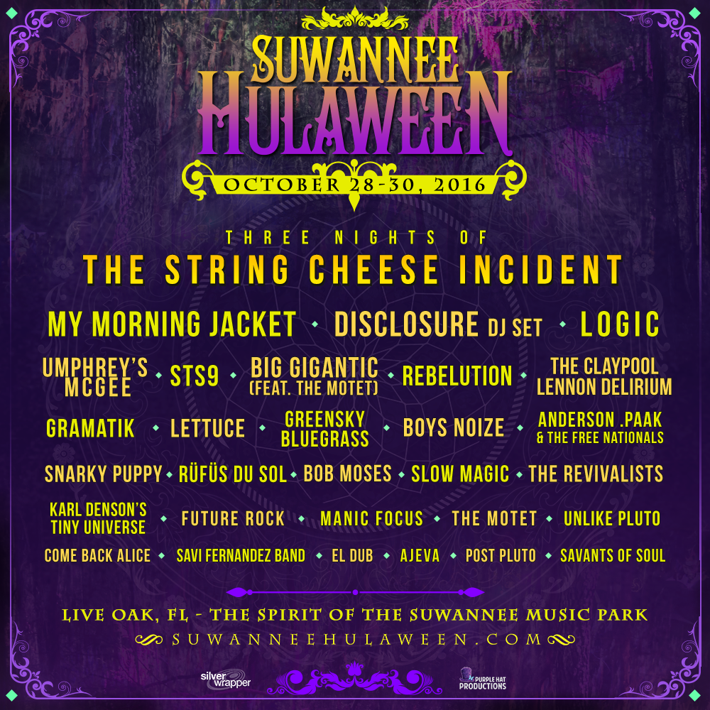 Suwannee Hulaween Announces 2016 Initial Lineup
