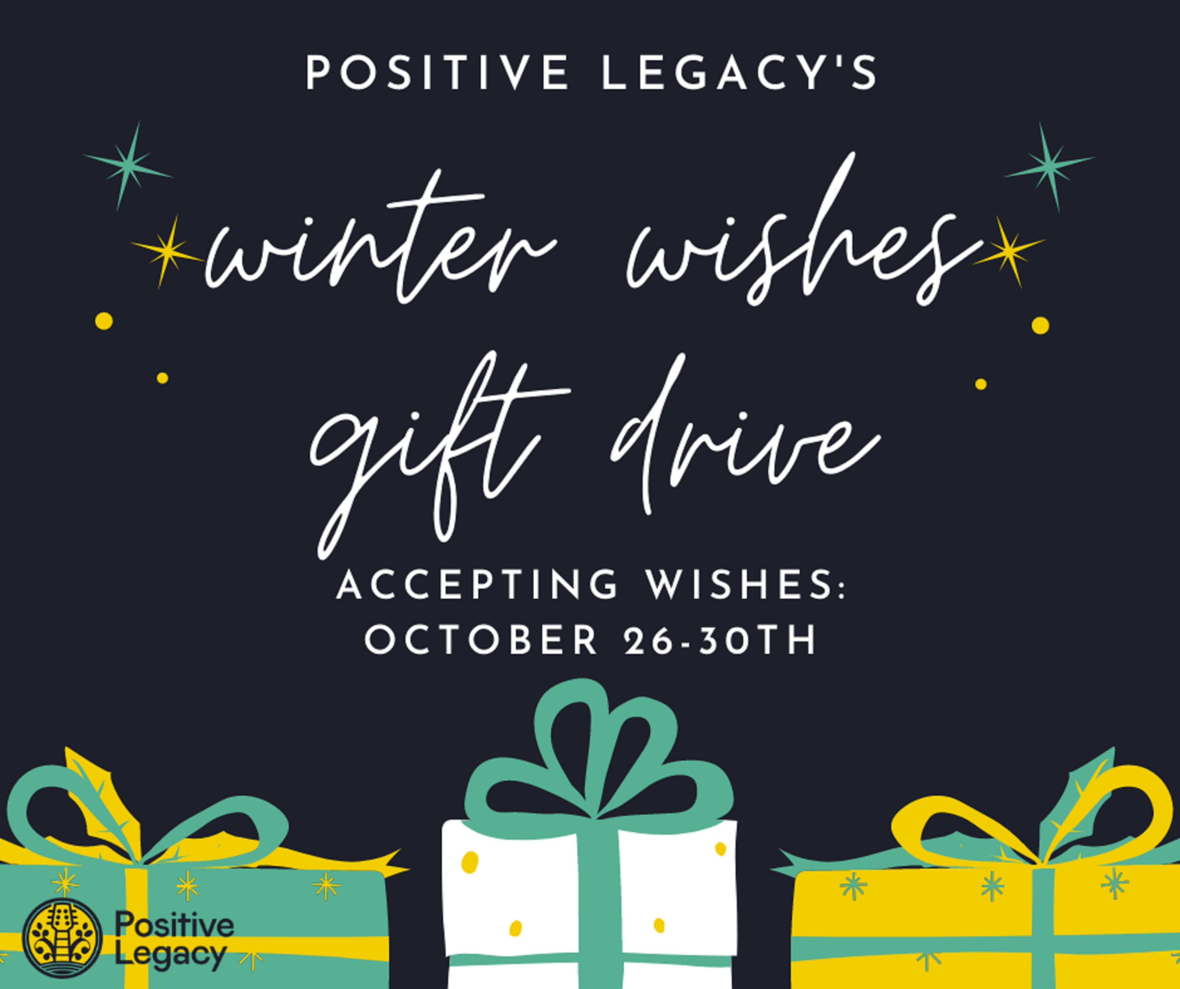 Positive Legacy Announces 'Winter Wishes Gift Drive'